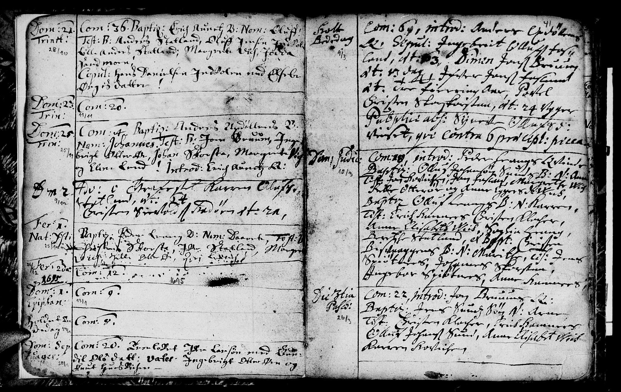 SAT, Ministerialprotokoller, klokkerbøker og fødselsregistre - Nord-Trøndelag, 774/L0627: Ministerialbok nr. 774A01, 1693-1738, s. 40-41