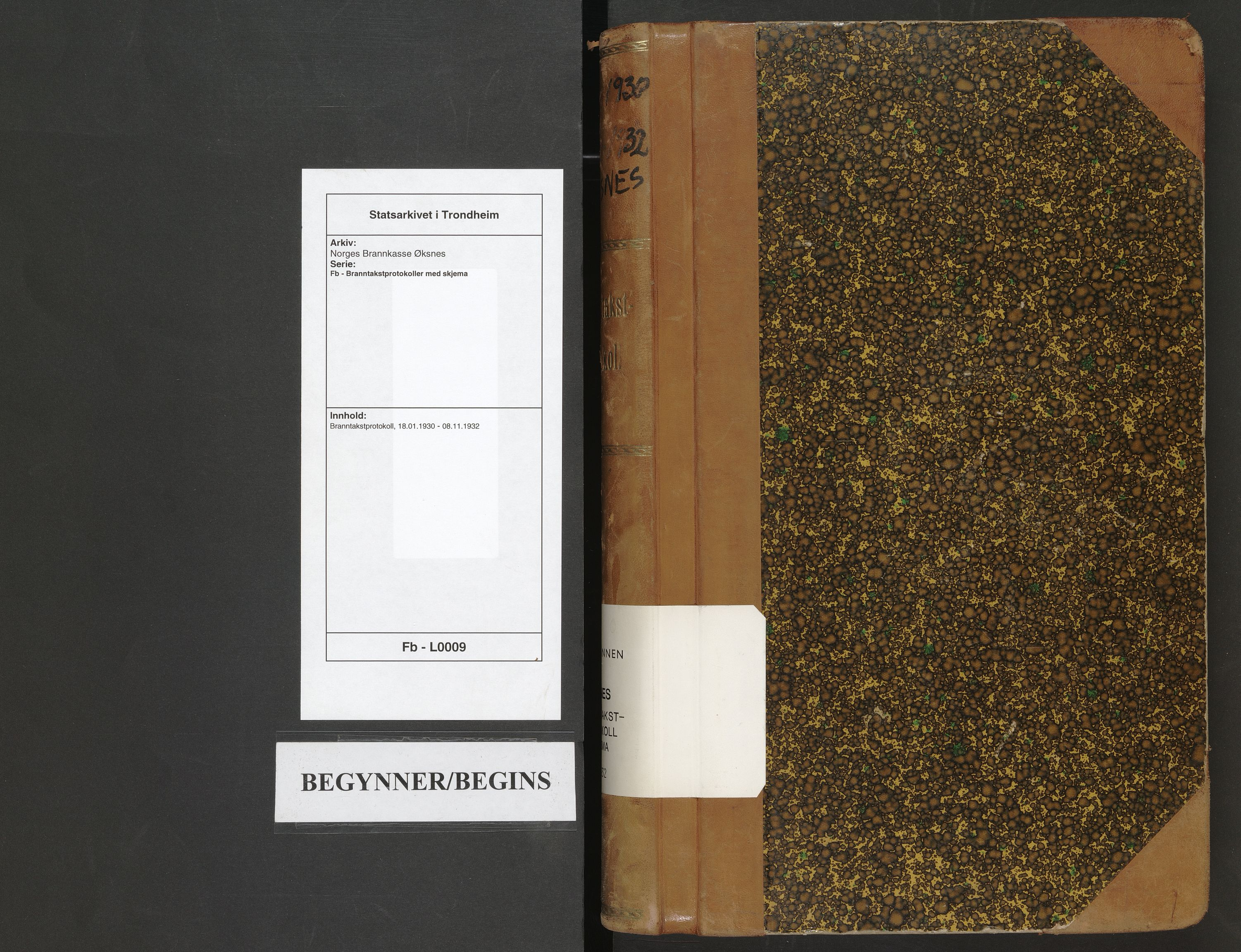 SAT, Norges Brannkasse Øksnes, Fb/L0009: Branntakstprotokoll, 1930-1932