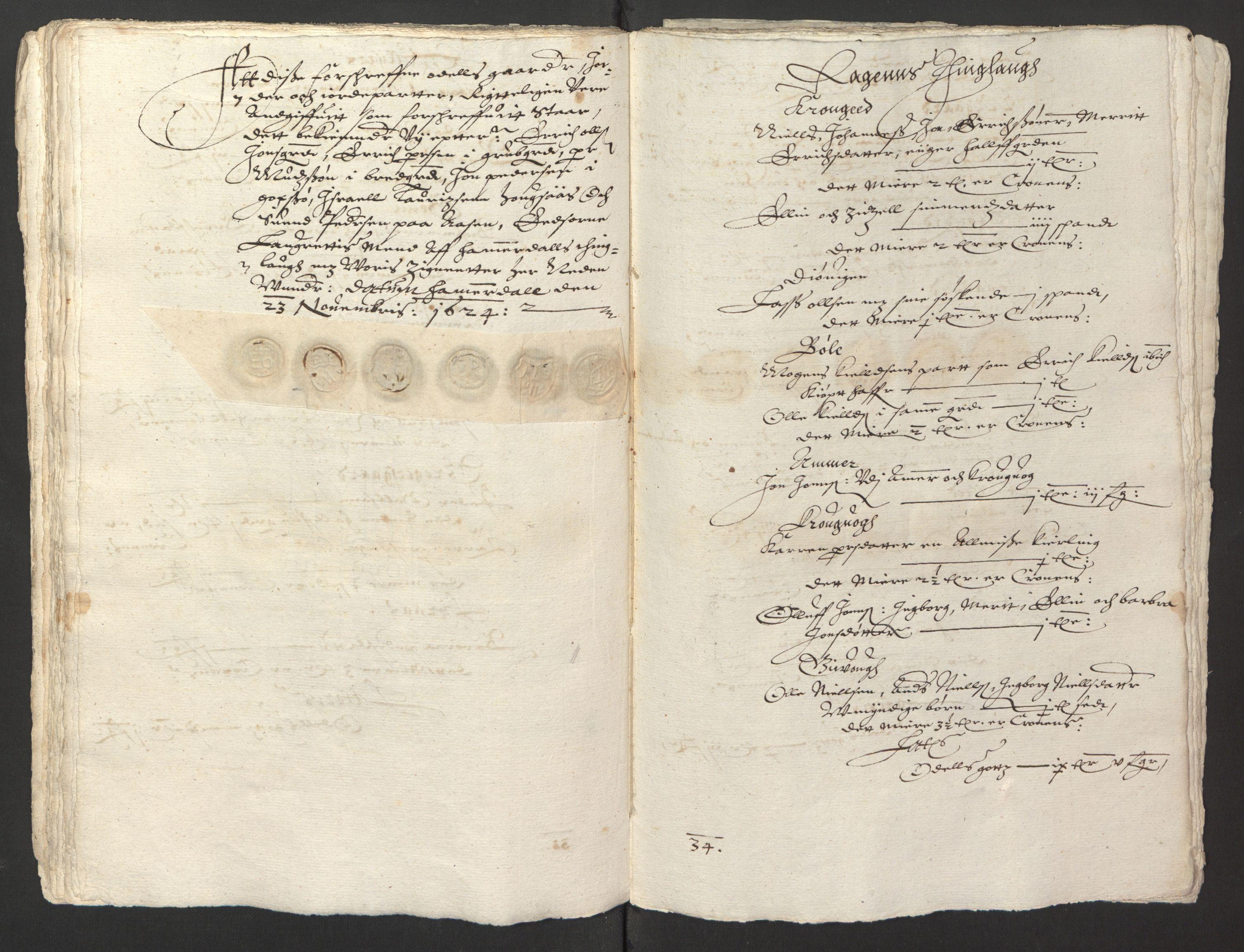 RA, Stattholderembetet 1572-1771, Ek/L0013: Jordebøker til utlikning av rosstjeneste 1624-1626:, 1624-1625, s. 129