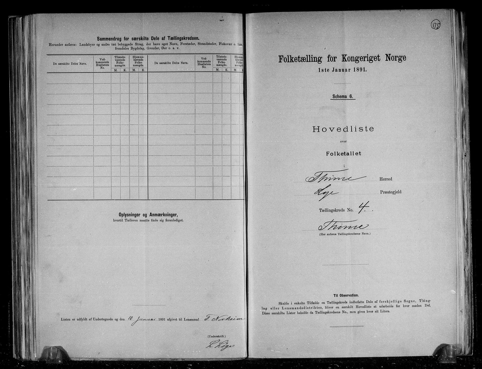 RA, Folketelling 1891 for 1121 Time herred, 1891, s. 13