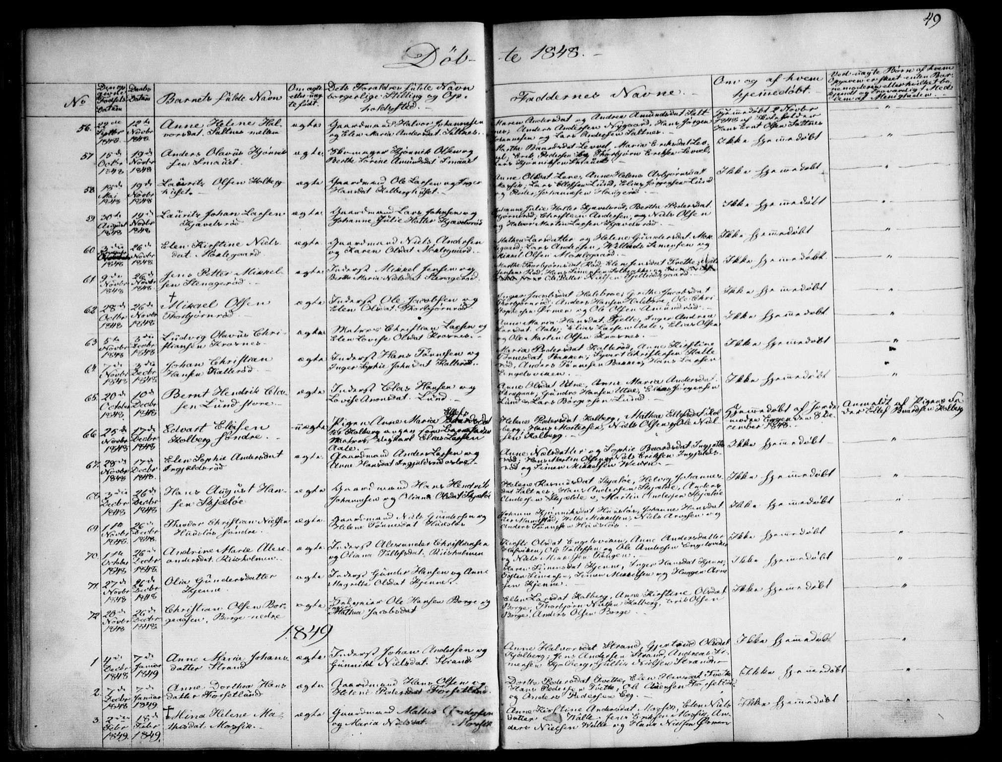 SAO, Onsøy prestekontor Kirkebøker, F/Fa/L0003: Ministerialbok nr. I 3, 1841-1860, s. 49