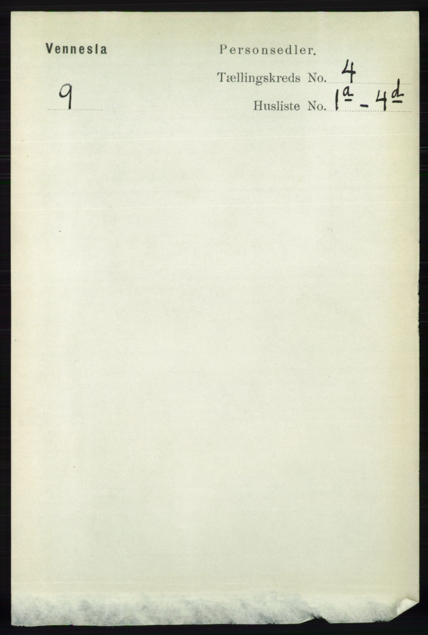 RA, Folketelling 1891 for 1014 Vennesla herred, 1891, s. 848