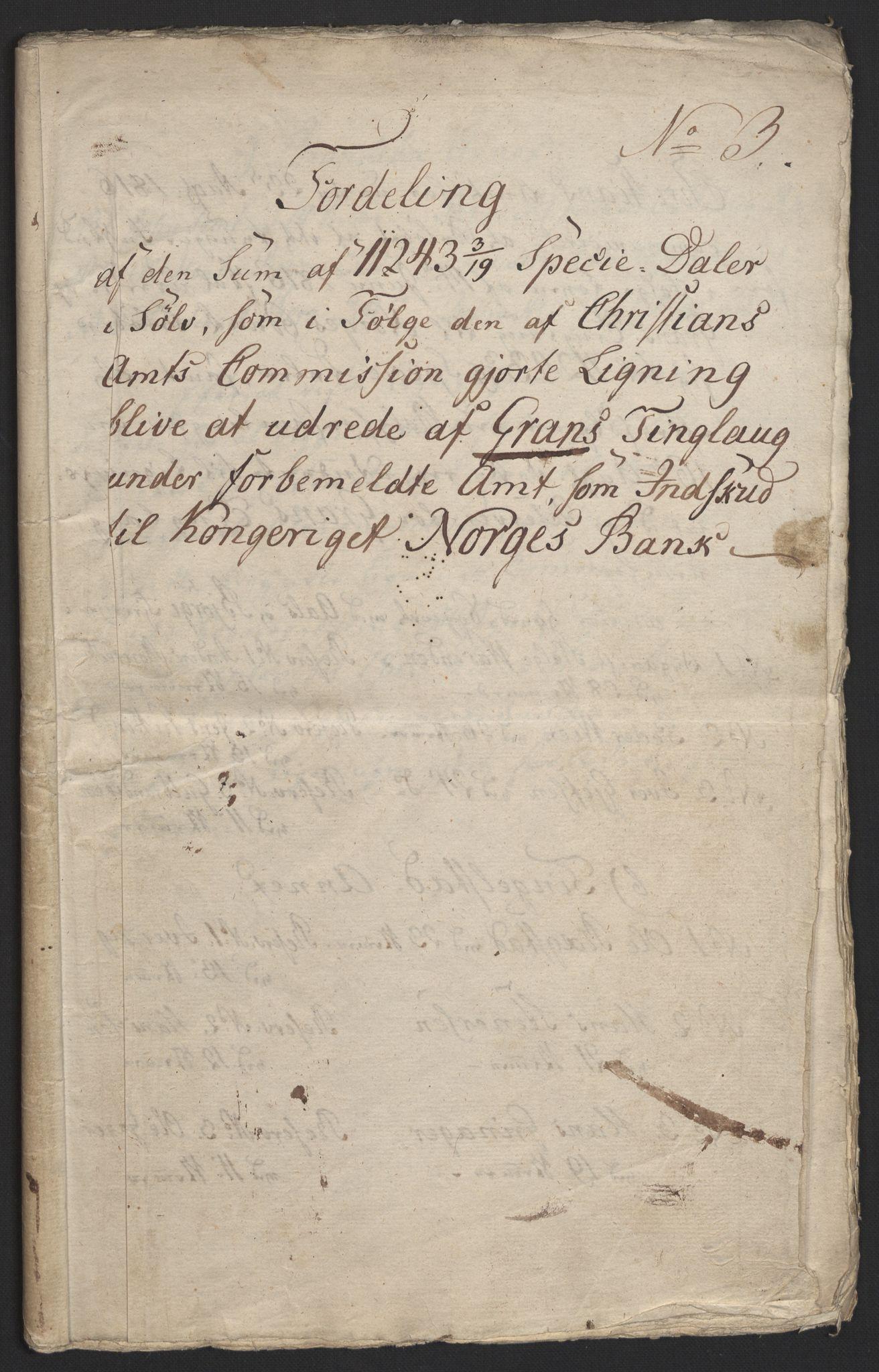 NOBA, Norges Bank/Sølvskatten 1816*, 1816, s. 2