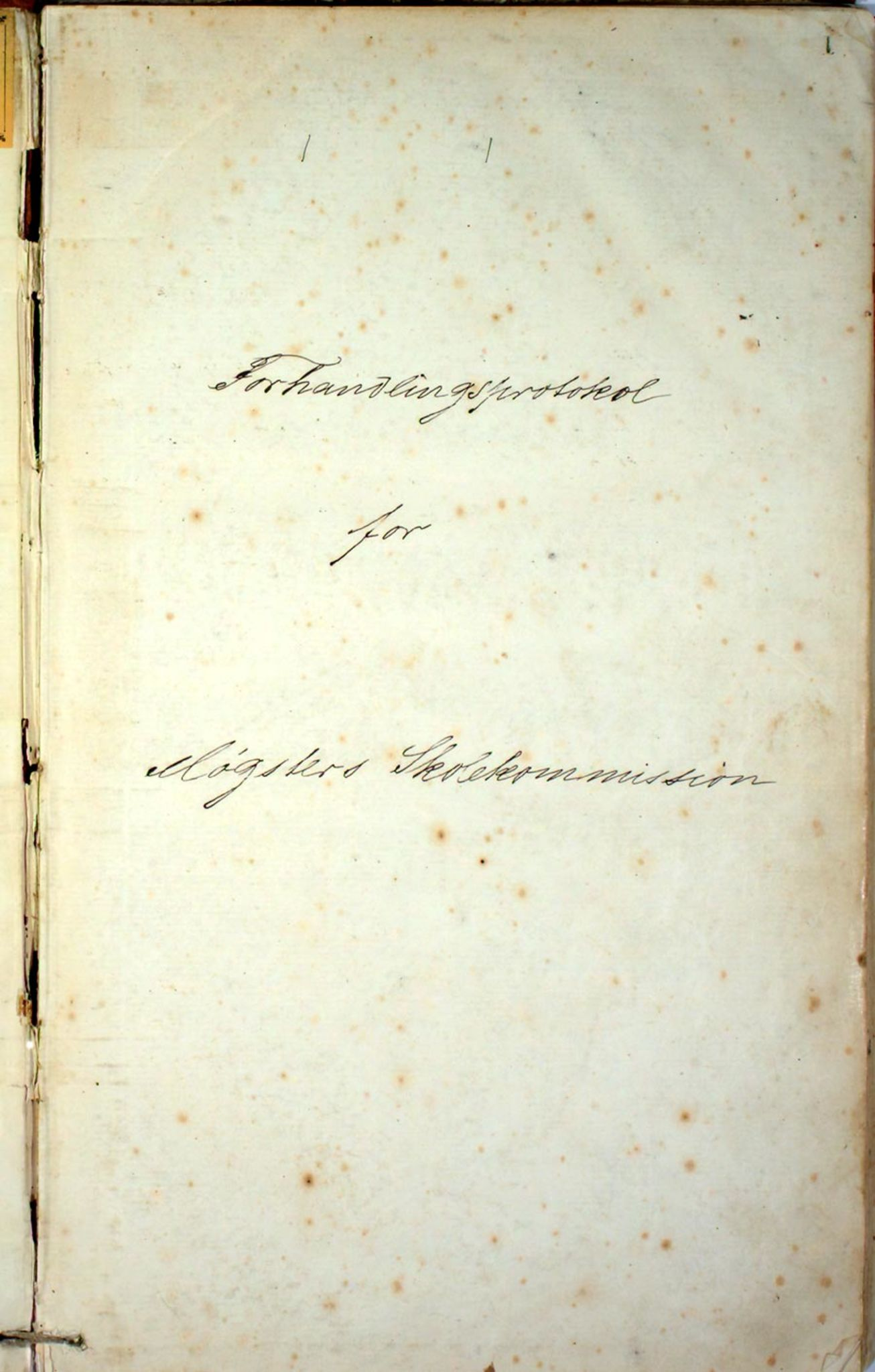 IKAH, Austevoll kommune. Skulestyret, A/Aa/L0001: Møkster sokn skulekommisjon, 1878-1910, s. 1a