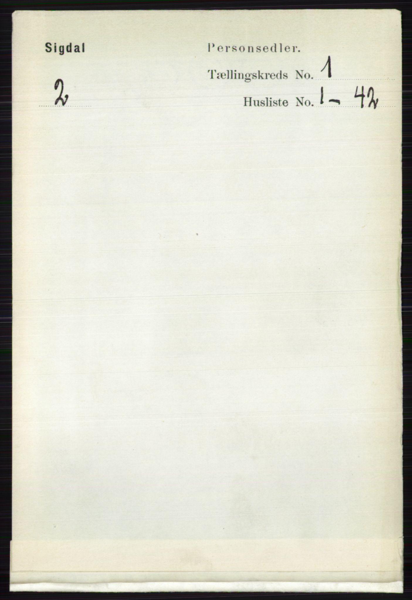 RA, Folketelling 1891 for 0621 Sigdal herred, 1891, s. 186
