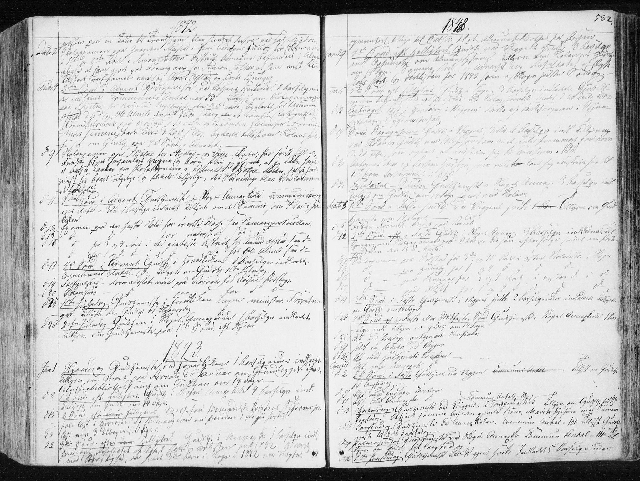 SAT, Ministerialprotokoller, klokkerbøker og fødselsregistre - Sør-Trøndelag, 665/L0771: Ministerialbok nr. 665A06, 1830-1856, s. 582