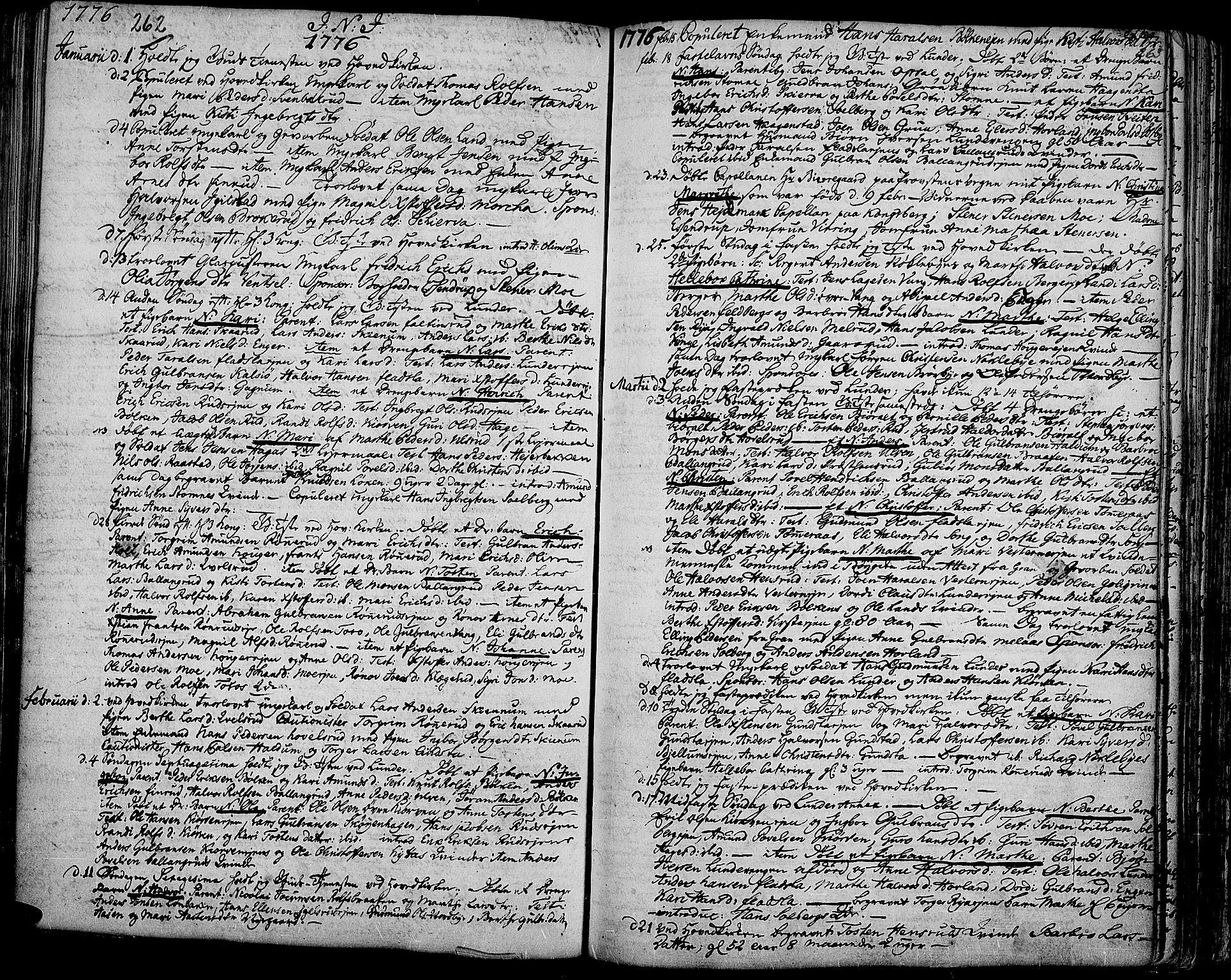 SAH, Jevnaker prestekontor, Ministerialbok nr. 3, 1752-1799, s. 262-263