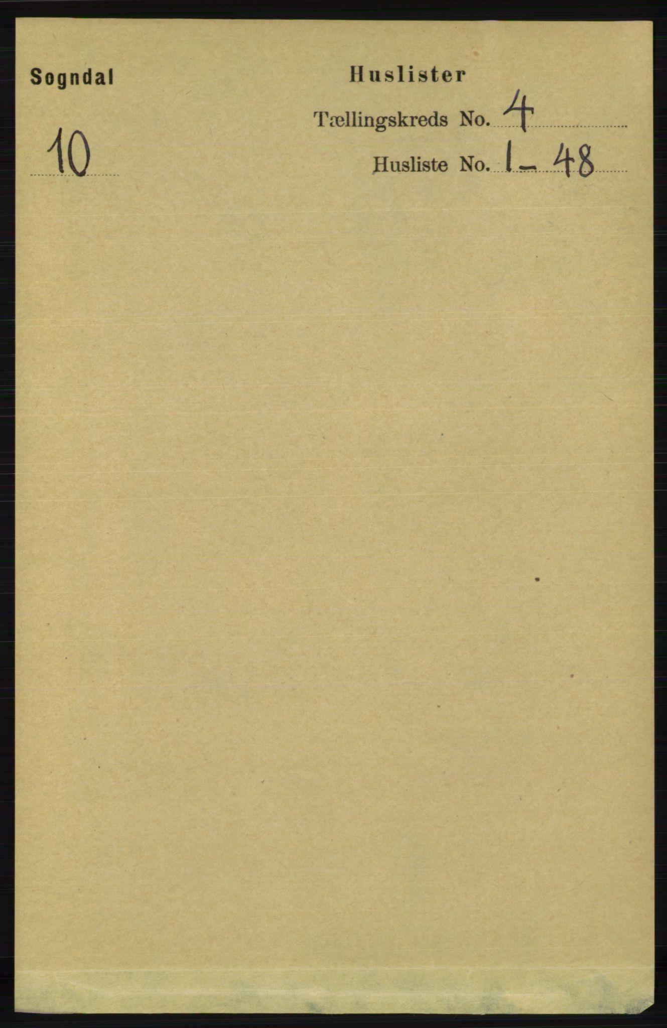 RA, Folketelling 1891 for 1111 Sokndal herred, 1891, s. 950
