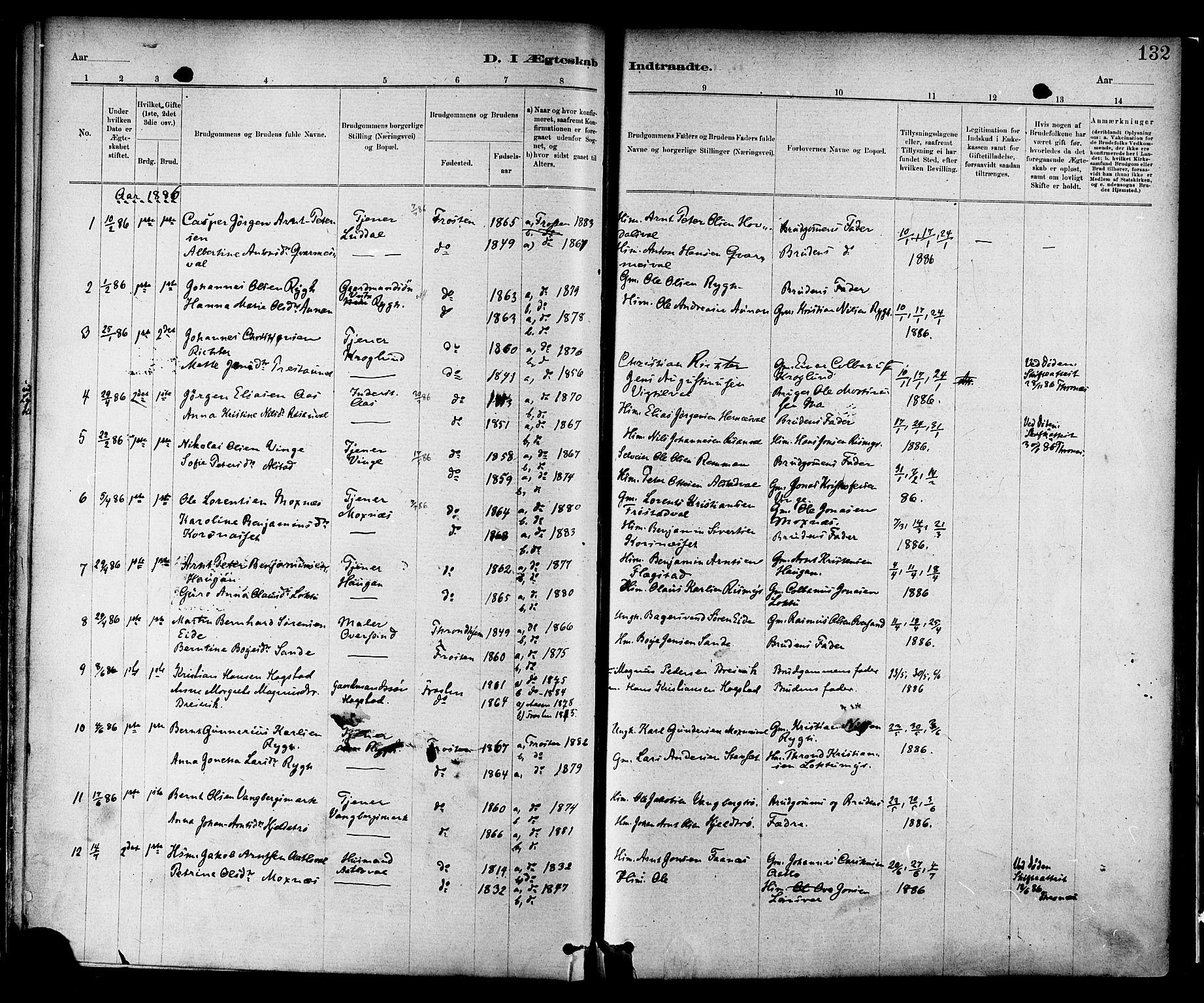 SAT, Ministerialprotokoller, klokkerbøker og fødselsregistre - Nord-Trøndelag, 713/L0120: Ministerialbok nr. 713A09, 1878-1887, s. 132