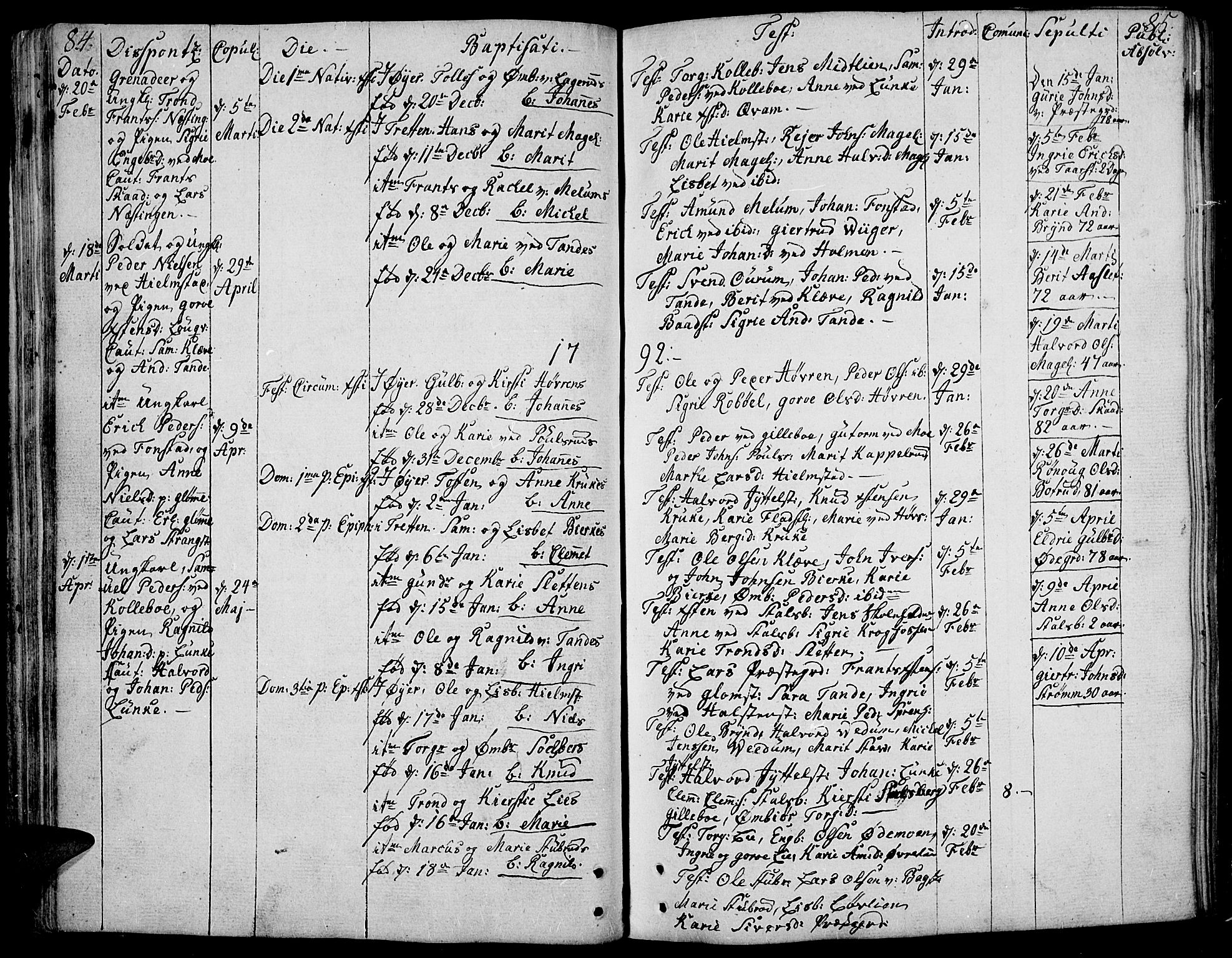 SAH, Øyer prestekontor, Ministerialbok nr. 3, 1784-1824, s. 84-85