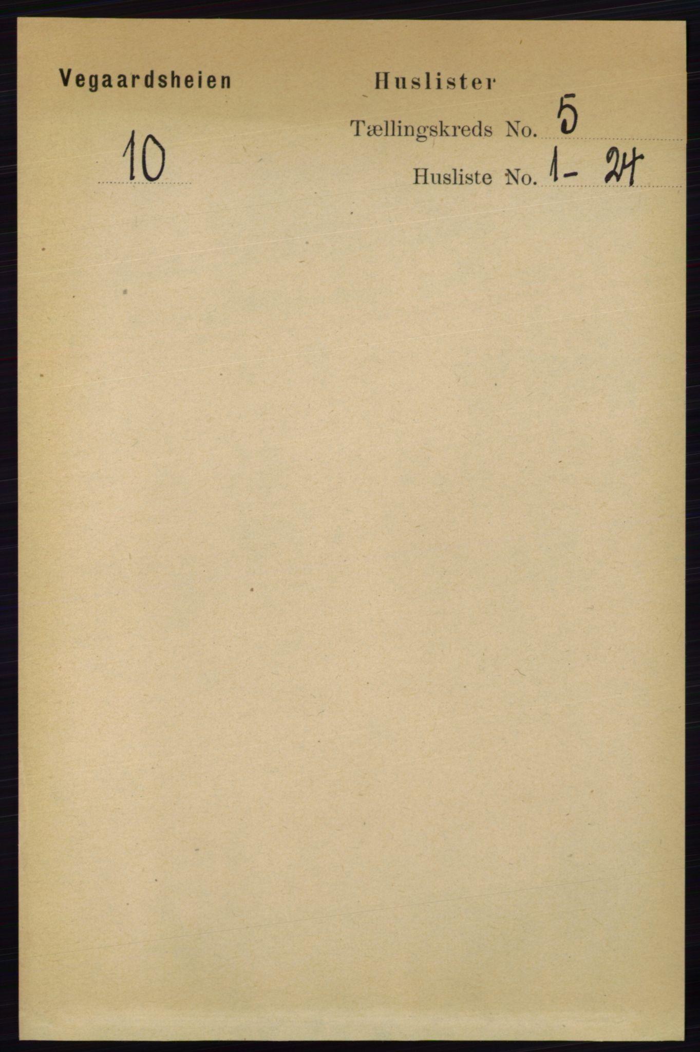 RA, Folketelling 1891 for 0912 Vegårshei herred, 1891, s. 942