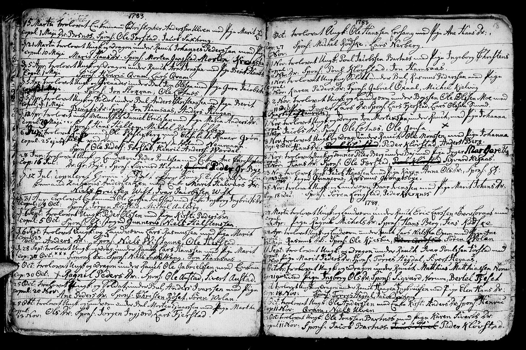 SAT, Ministerialprotokoller, klokkerbøker og fødselsregistre - Nord-Trøndelag, 730/L0273: Ministerialbok nr. 730A02, 1762-1802, s. 18