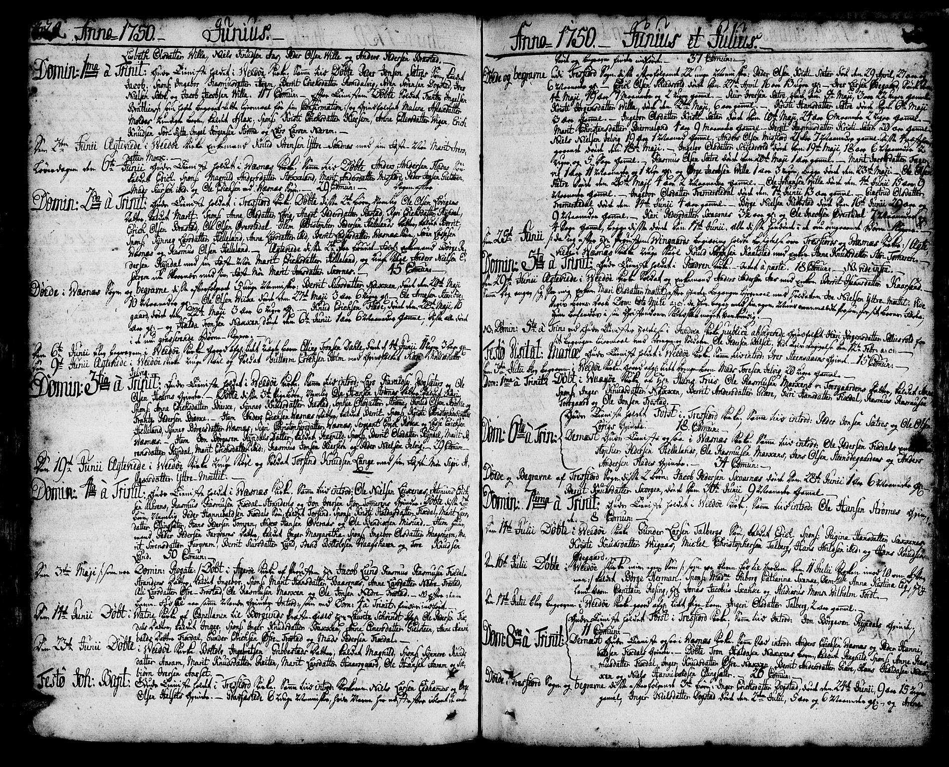 SAT, Ministerialprotokoller, klokkerbøker og fødselsregistre - Møre og Romsdal, 547/L0599: Ministerialbok nr. 547A01, 1721-1764, s. 329-330