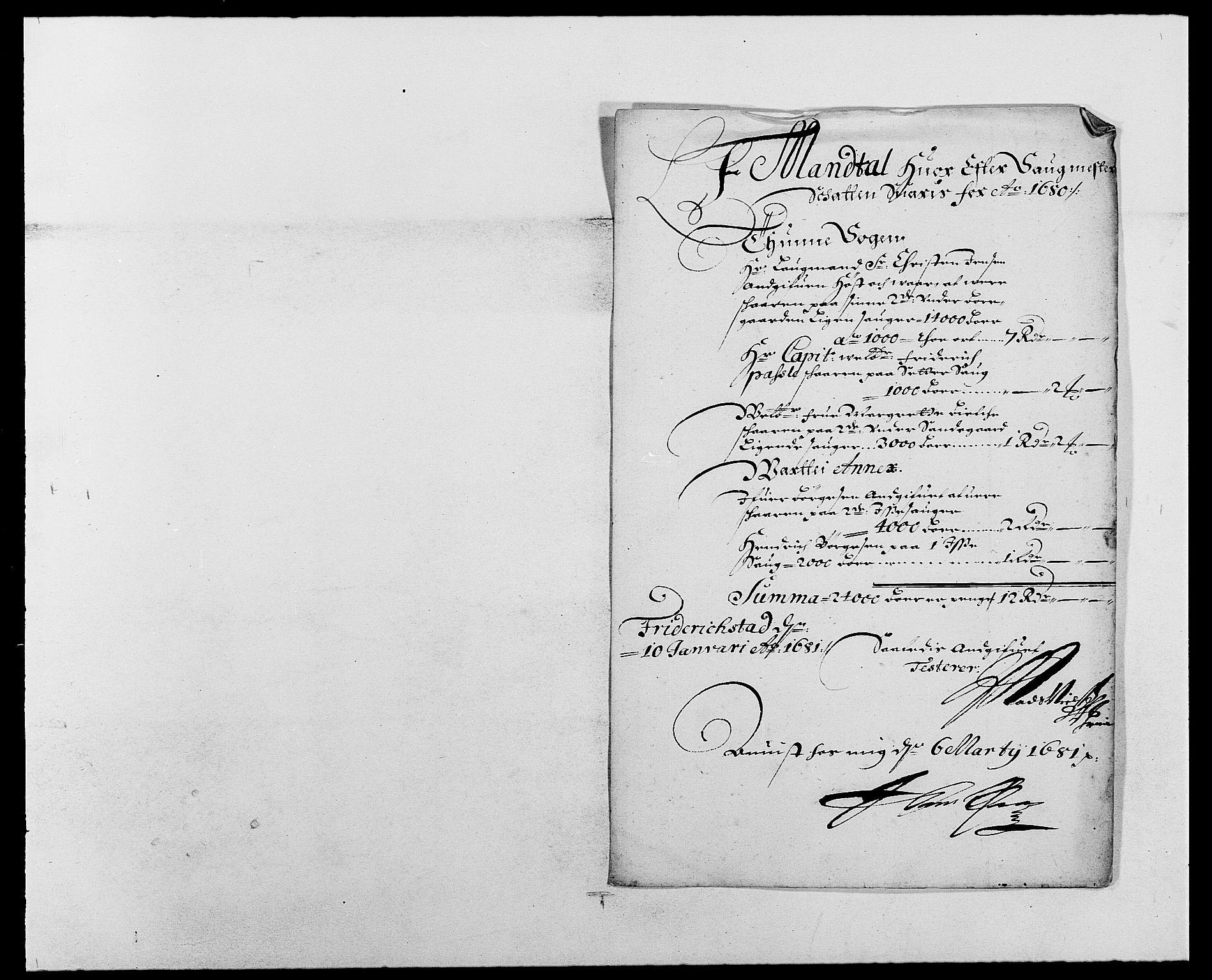 RA, Rentekammeret inntil 1814, Reviderte regnskaper, Fogderegnskap, R03/L0111: Fogderegnskap Onsøy, Tune, Veme og Åbygge fogderi, 1680, s. 211