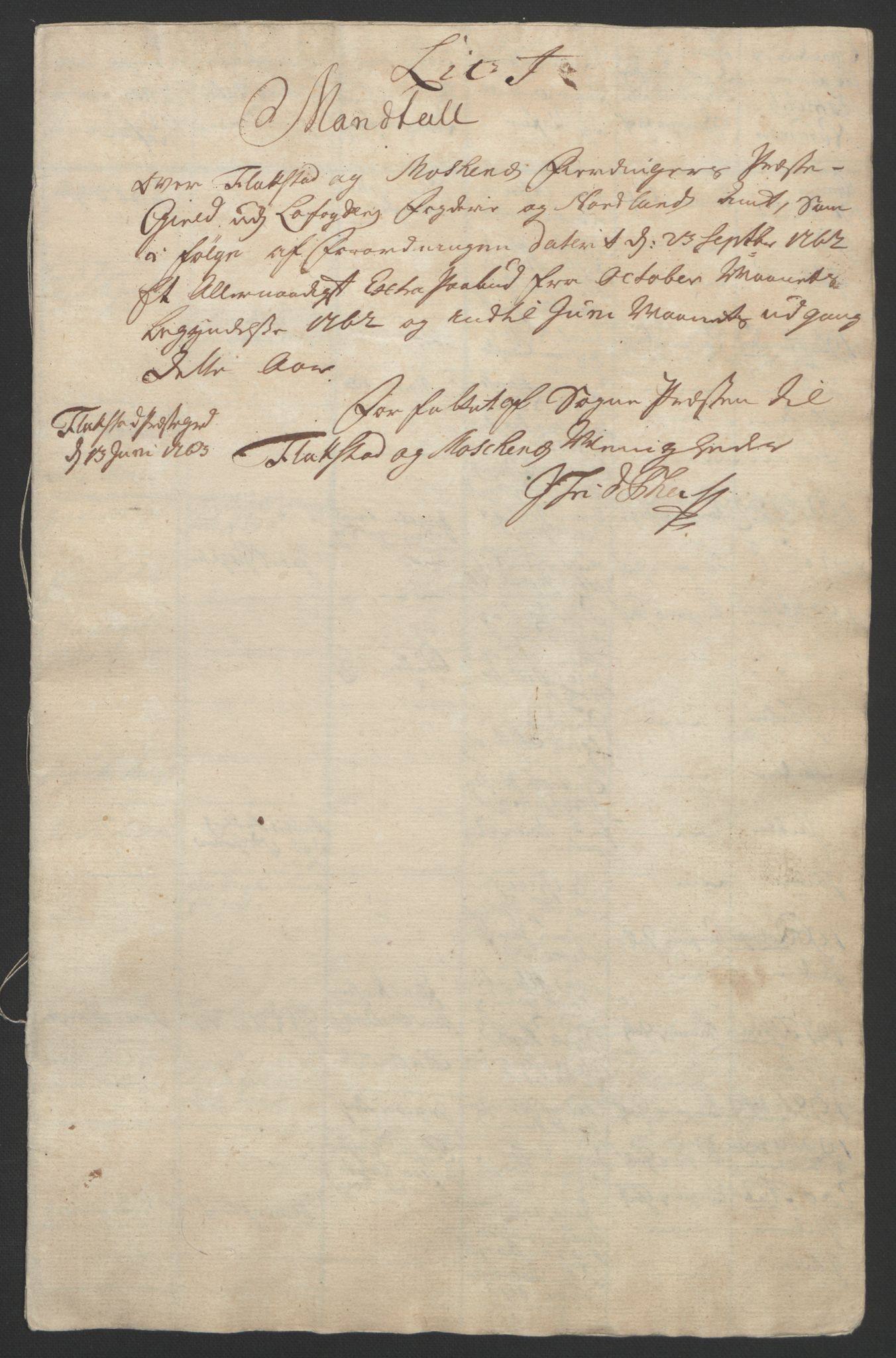 RA, Rentekammeret inntil 1814, Reviderte regnskaper, Fogderegnskap, R67/L4747: Ekstraskatten Vesterålen, Andenes og Lofoten, 1762-1766, s. 152