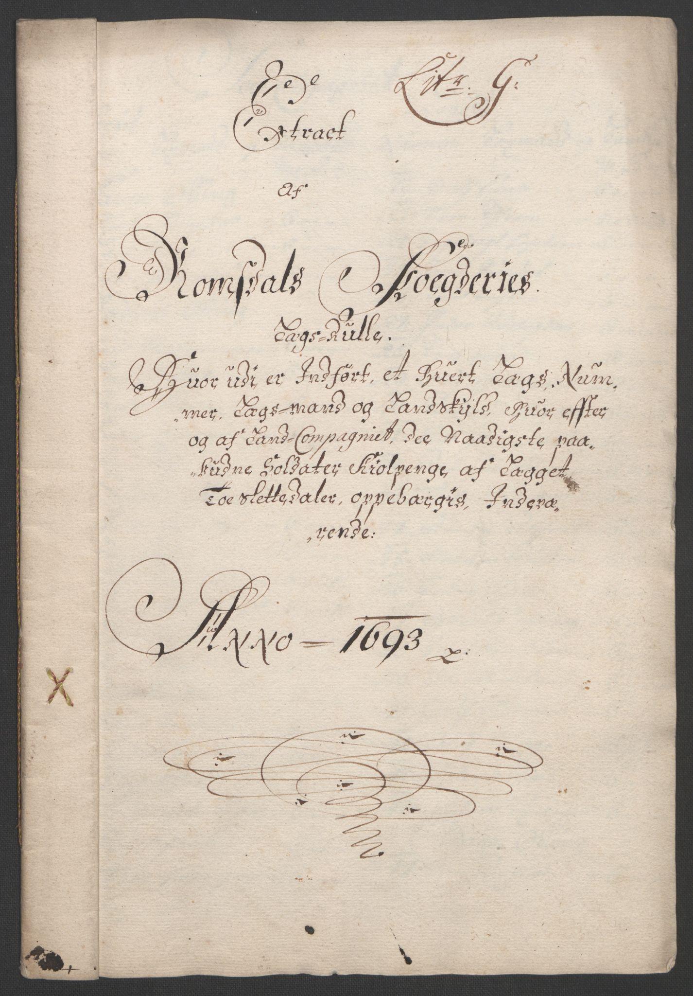 RA, Rentekammeret inntil 1814, Reviderte regnskaper, Fogderegnskap, R55/L3651: Fogderegnskap Romsdal, 1693-1694, s. 87