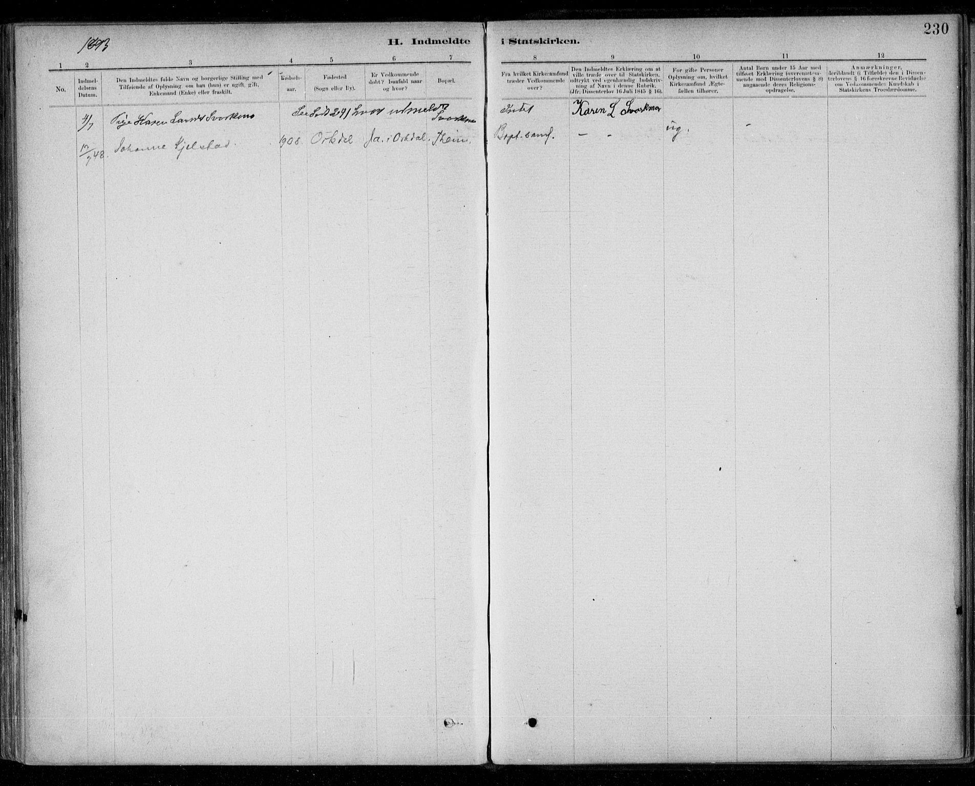 SAT, Ministerialprotokoller, klokkerbøker og fødselsregistre - Sør-Trøndelag, 668/L0810: Ministerialbok nr. 668A10, 1881-1894, s. 230