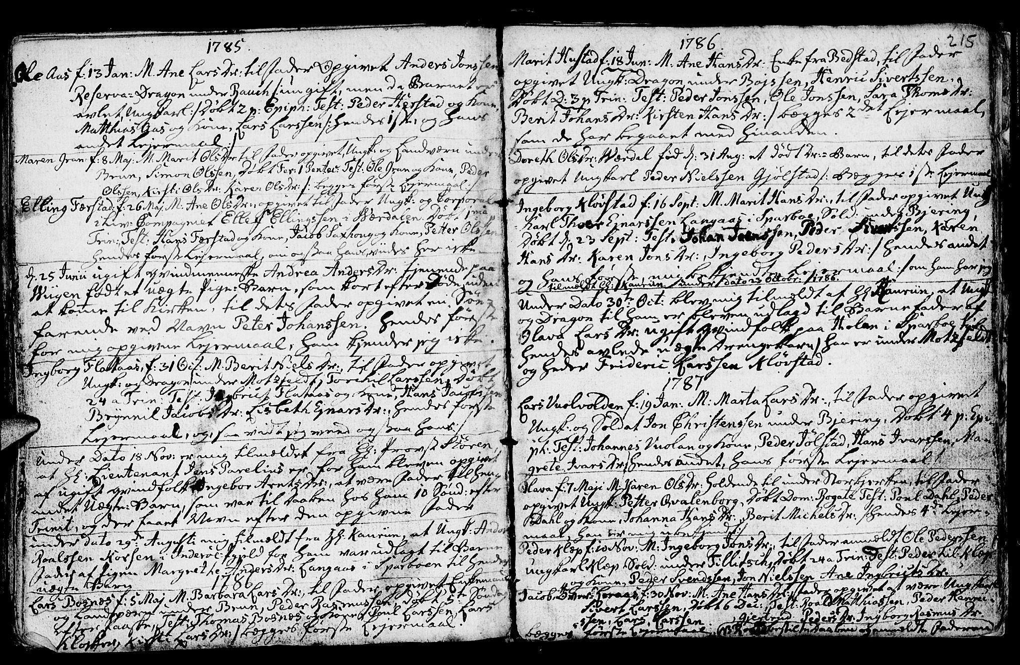 SAT, Ministerialprotokoller, klokkerbøker og fødselsregistre - Nord-Trøndelag, 730/L0273: Ministerialbok nr. 730A02, 1762-1802, s. 215