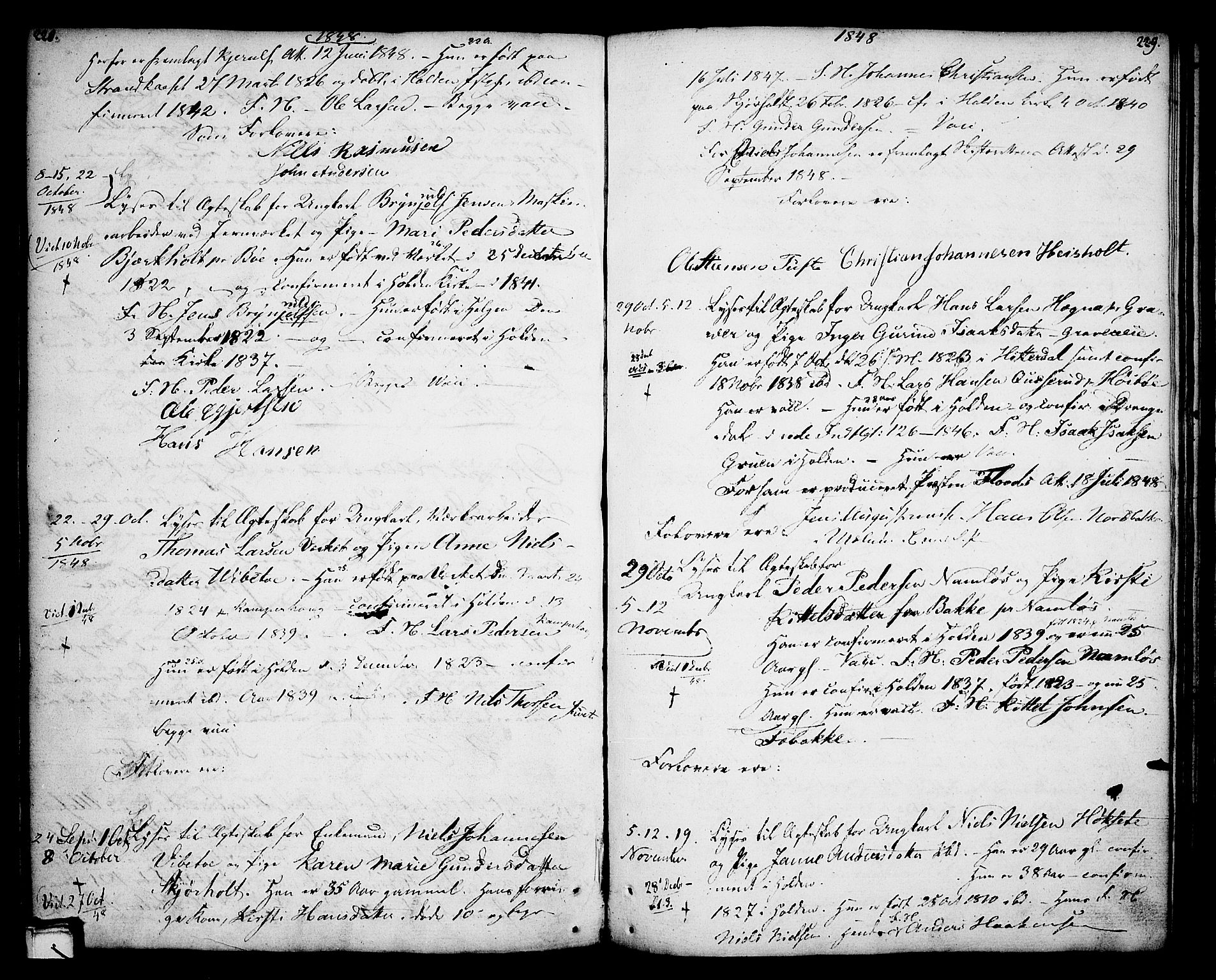 SAKO, Holla kirkebøker, F/Fa/L0002: Ministerialbok nr. 2, 1779-1814, s. 228-229