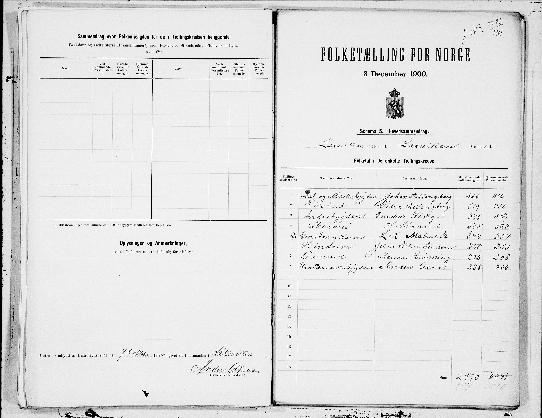 SAT, Folketelling 1900 for 1718 Leksvik herred, 1900, s. 20