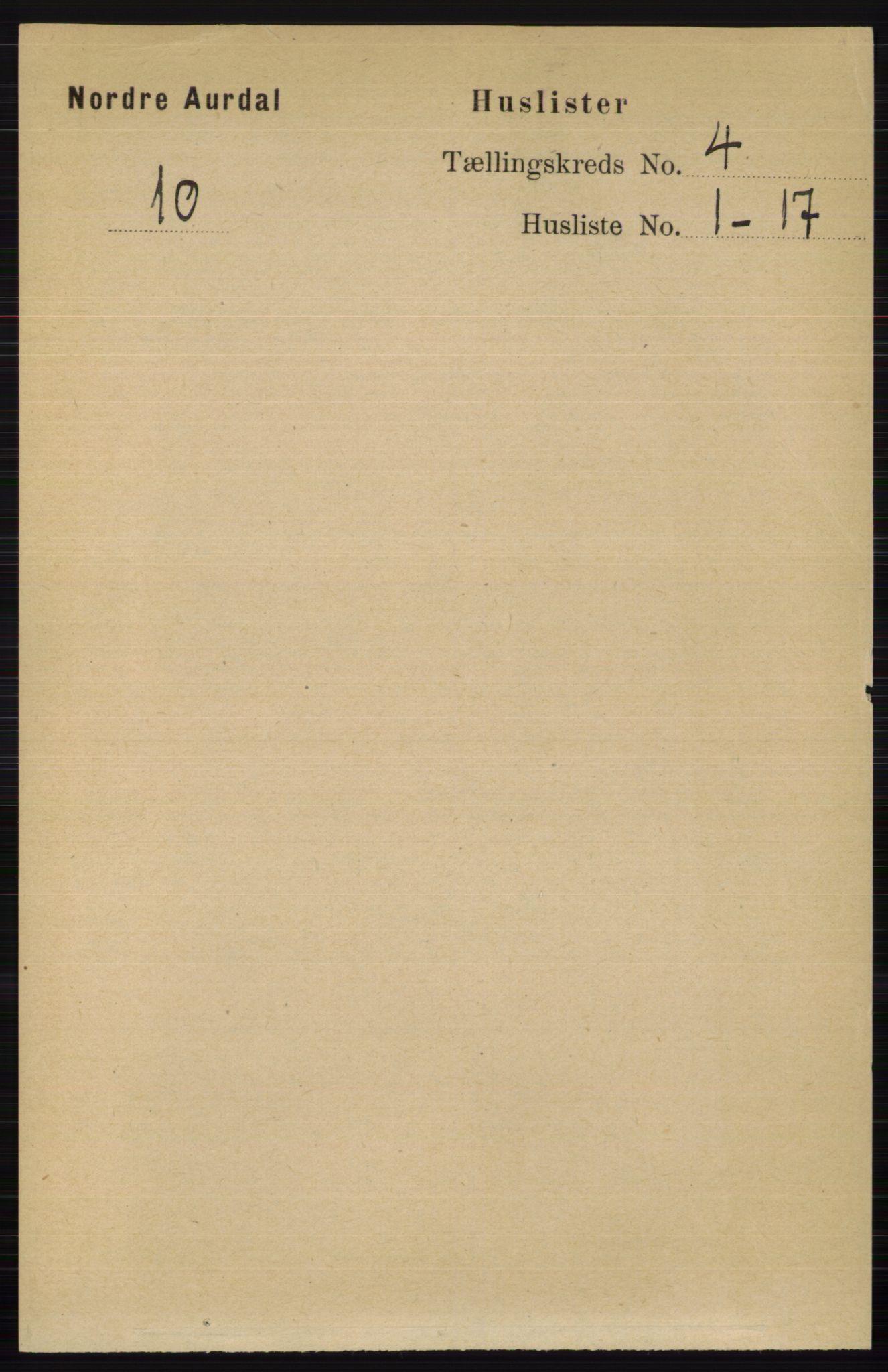 RA, Folketelling 1891 for 0542 Nord-Aurdal herred, 1891, s. 1148