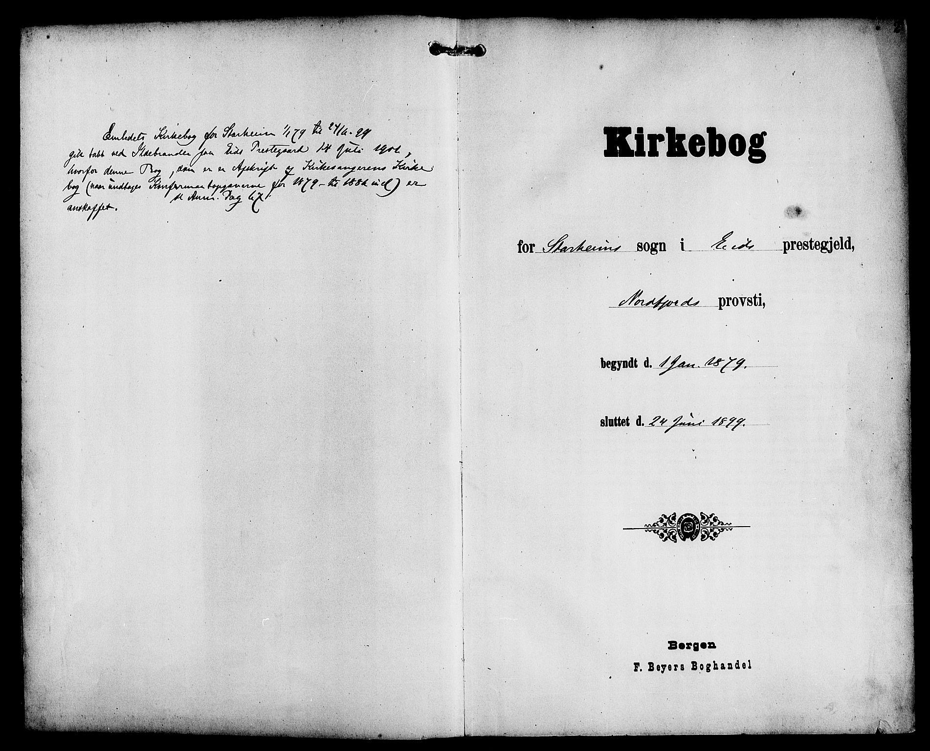SAB, Eid Sokneprestembete, H/Haa: Ministerialbok nr. C 1, 1879-1899, s. 2