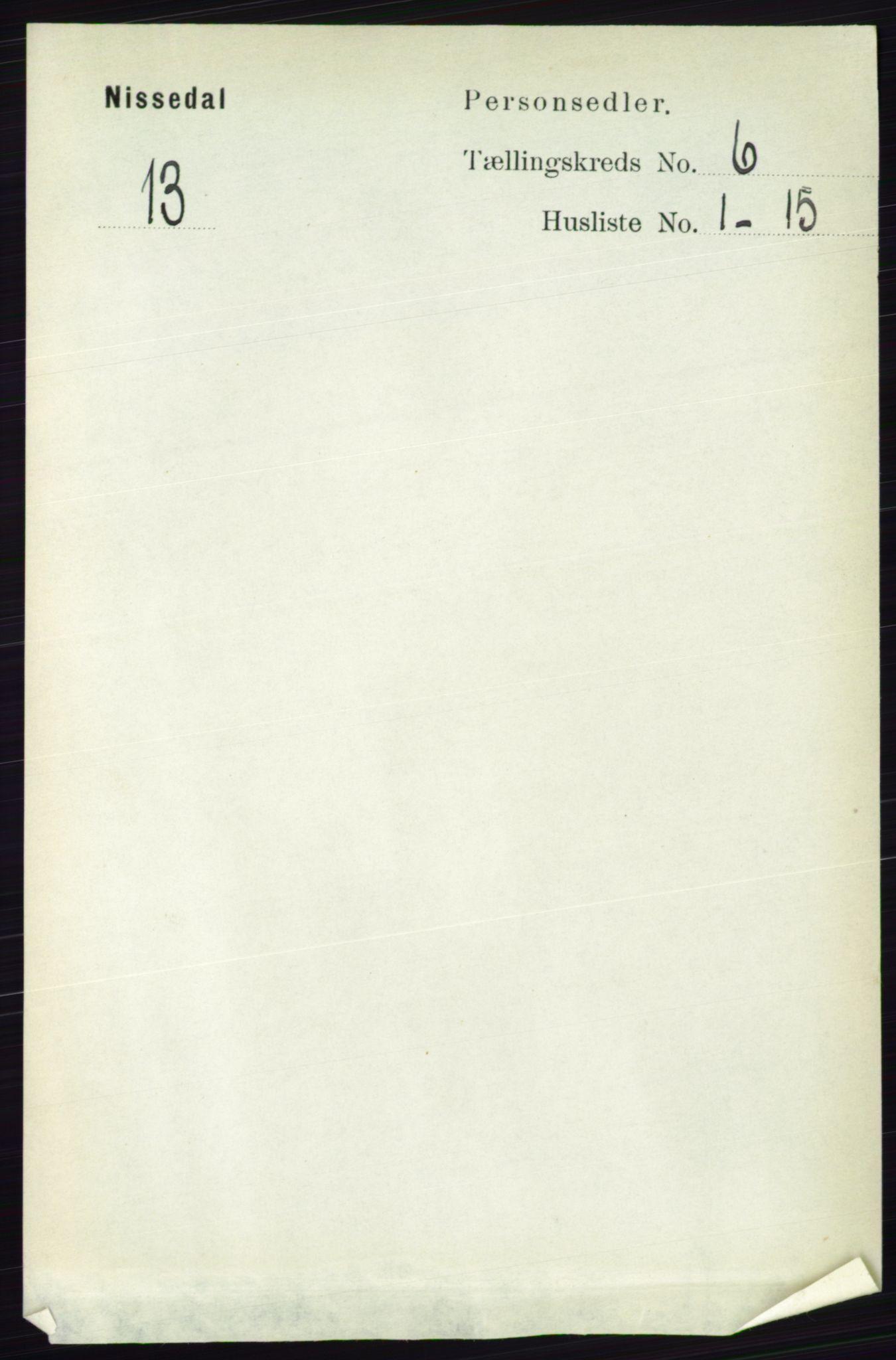 RA, Folketelling 1891 for 0830 Nissedal herred, 1891, s. 1331