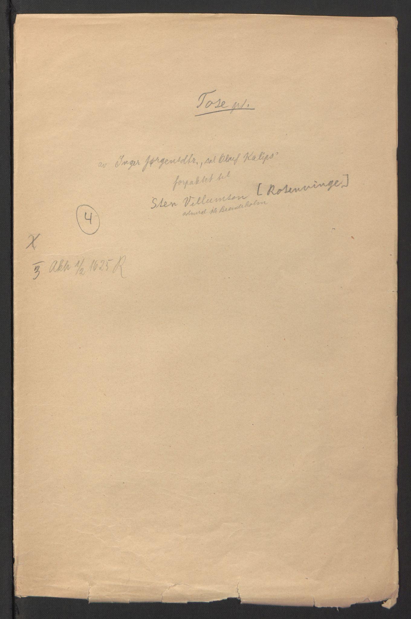 RA, Stattholderembetet 1572-1771, Ek/L0007: Jordebøker til utlikning av rosstjeneste 1624-1626:, 1624-1625, s. 260