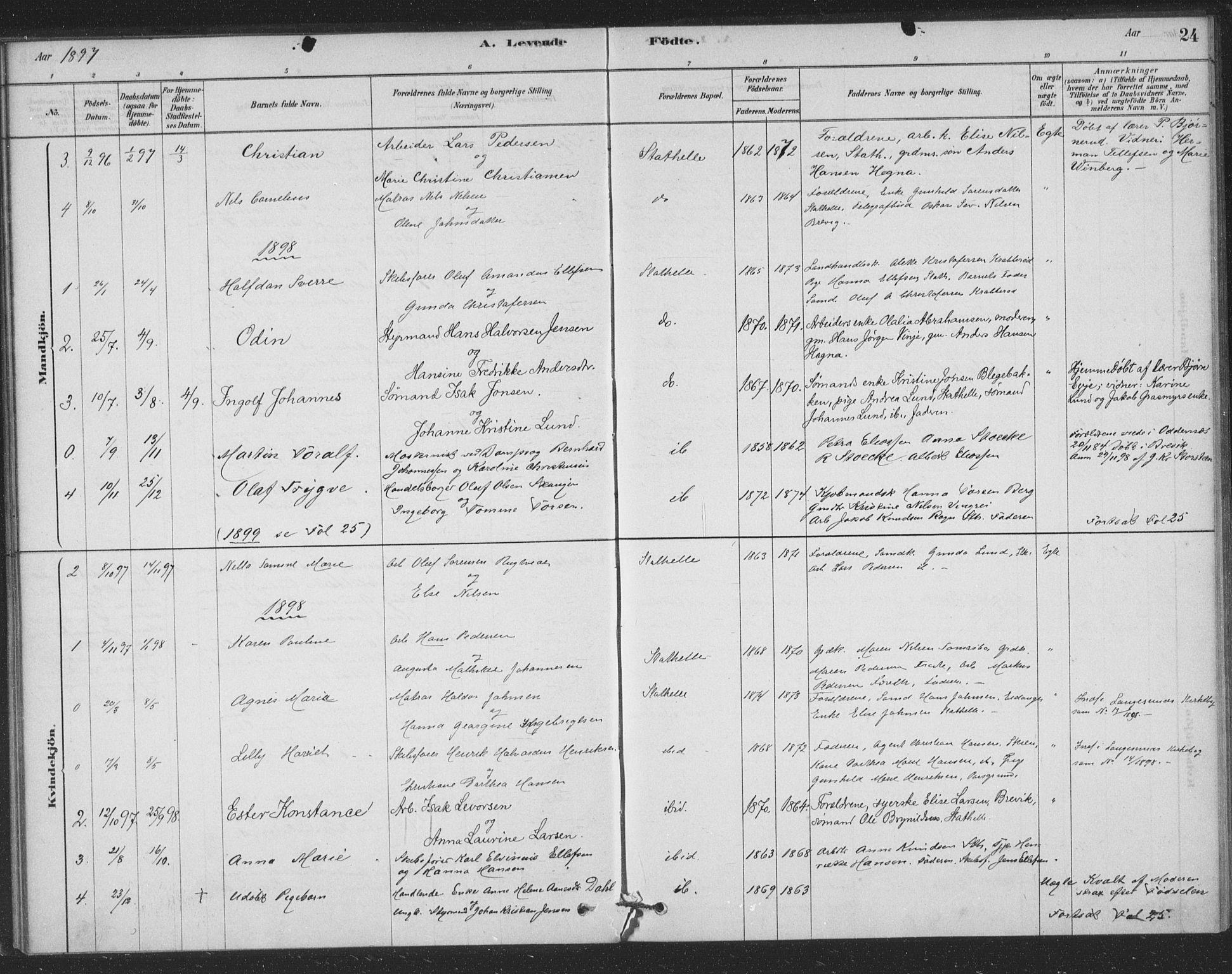 SAKO, Bamble kirkebøker, F/Fb/L0001: Ministerialbok nr. II 1, 1878-1899, s. 24