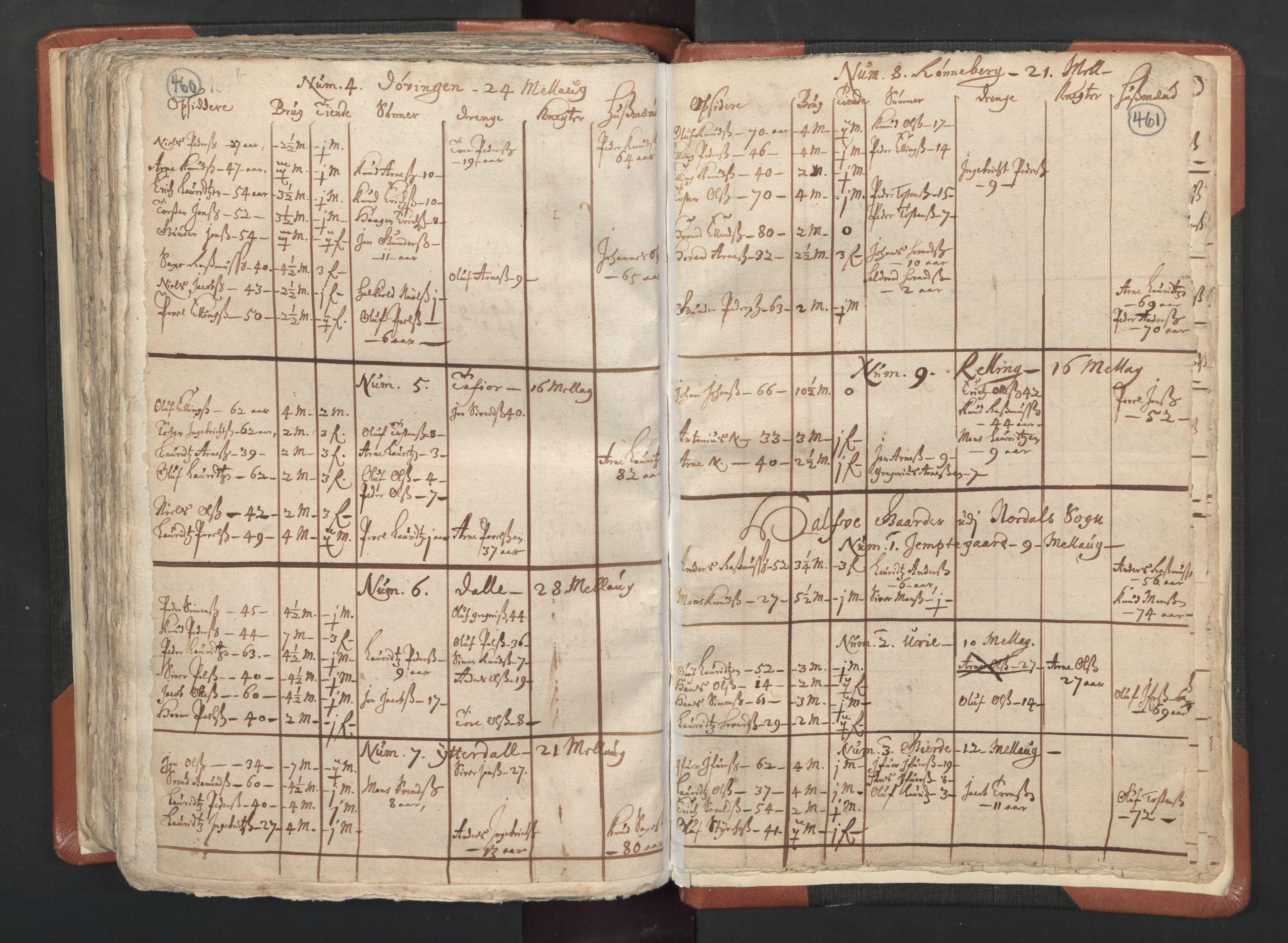 RA, Sogneprestenes manntall 1664-1666, nr. 26: Sunnmøre prosti, 1664-1666, s. 460-461