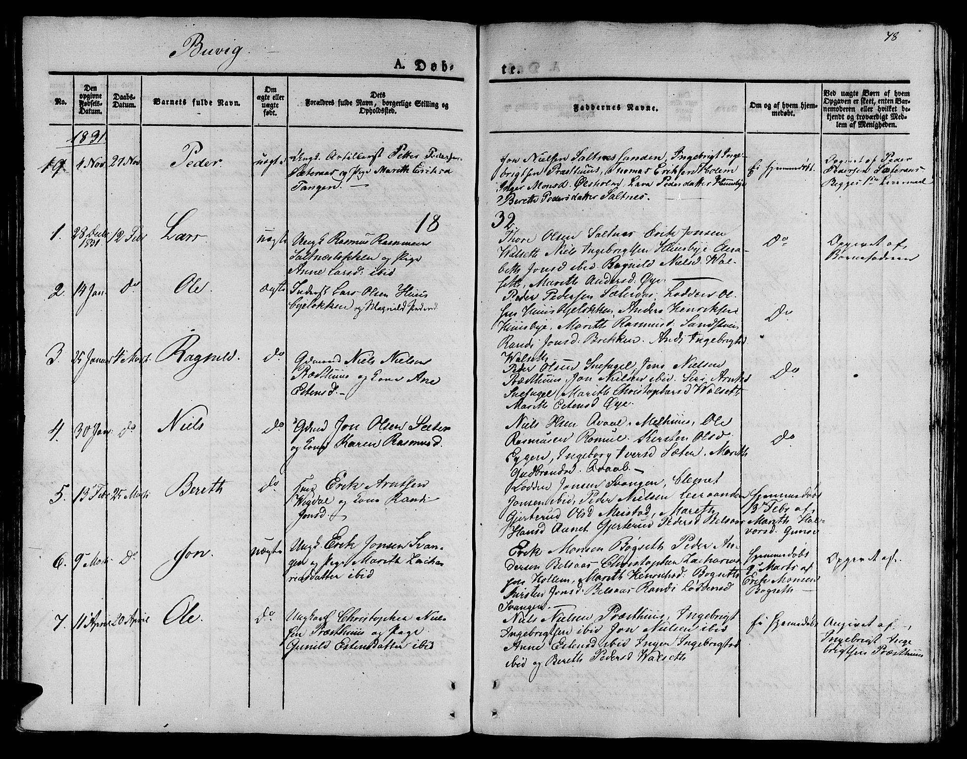 SAT, Ministerialprotokoller, klokkerbøker og fødselsregistre - Sør-Trøndelag, 612/L0375: Ministerialbok nr. 612A07 /2, 1829-1845, s. 78