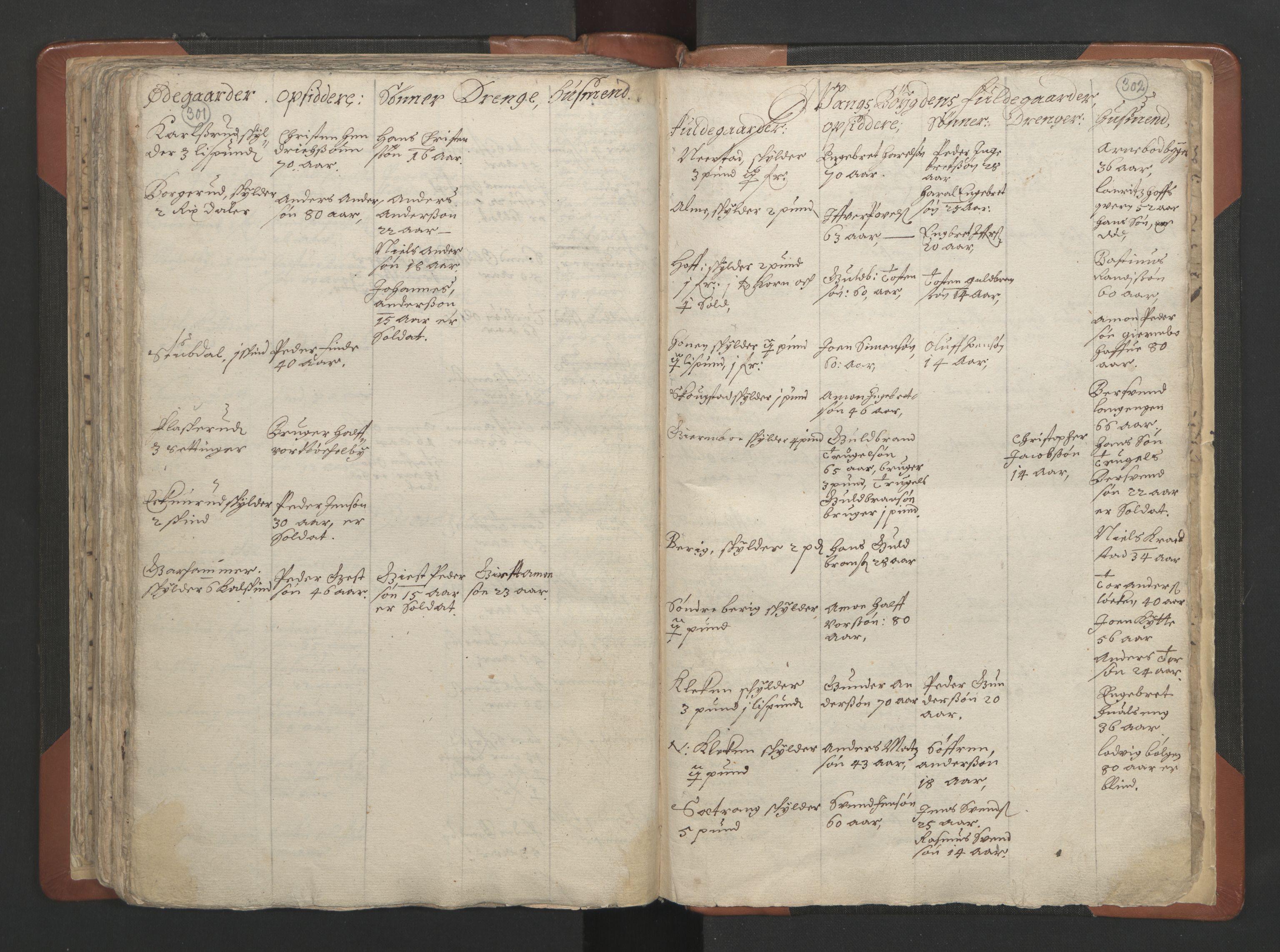 RA, Sogneprestenes manntall 1664-1666, nr. 7: Hadeland prosti, 1664-1666, s. 301-302