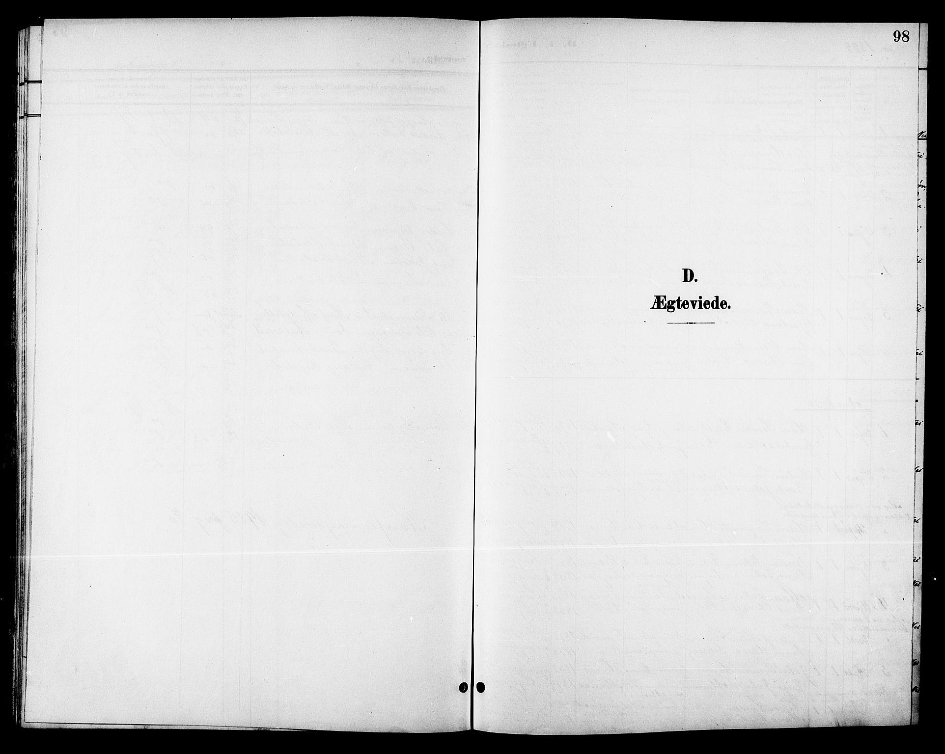 SAT, Ministerialprotokoller, klokkerbøker og fødselsregistre - Sør-Trøndelag, 688/L1029: Klokkerbok nr. 688C04, 1899-1915, s. 98