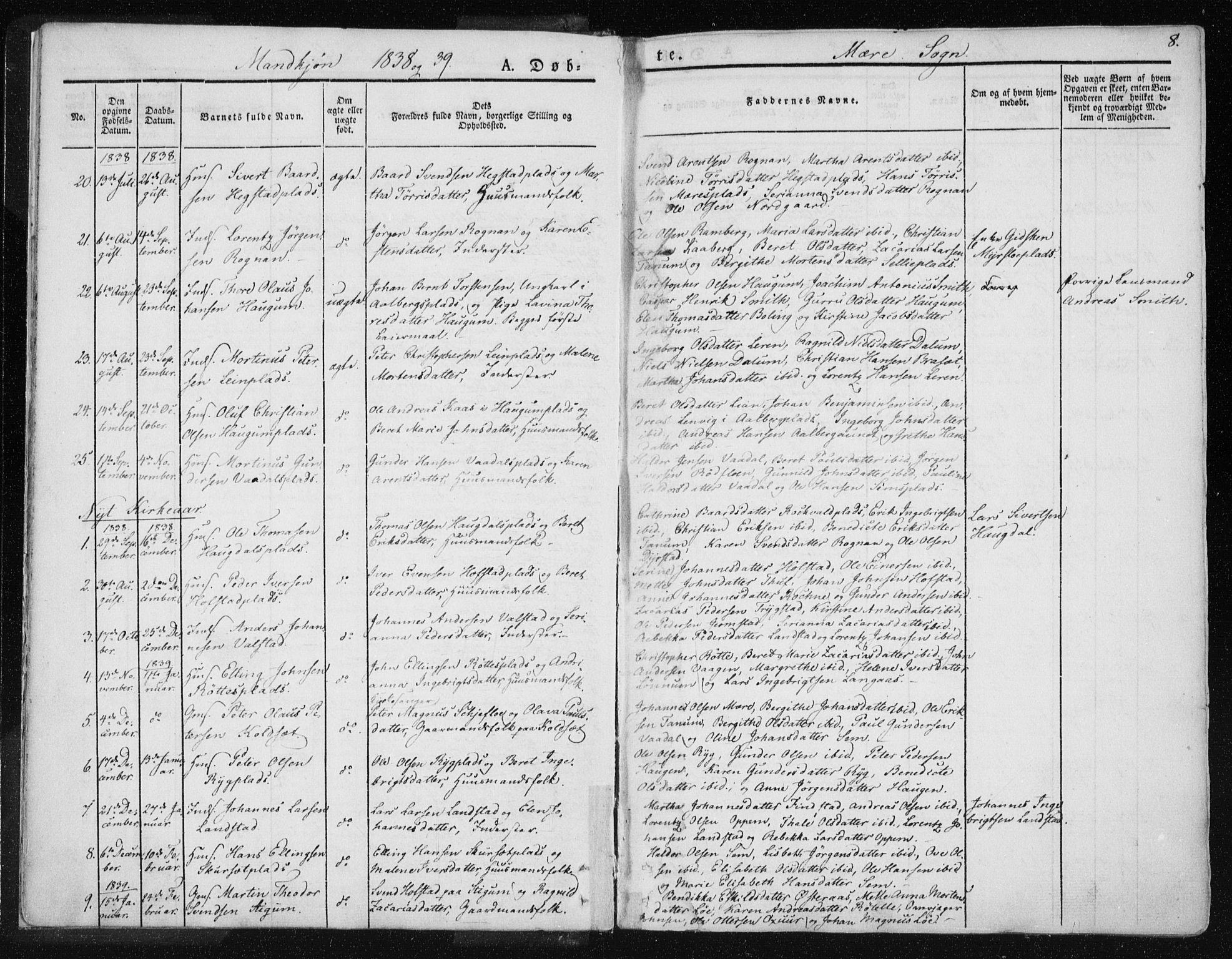 SAT, Ministerialprotokoller, klokkerbøker og fødselsregistre - Nord-Trøndelag, 735/L0339: Ministerialbok nr. 735A06 /1, 1836-1848, s. 8