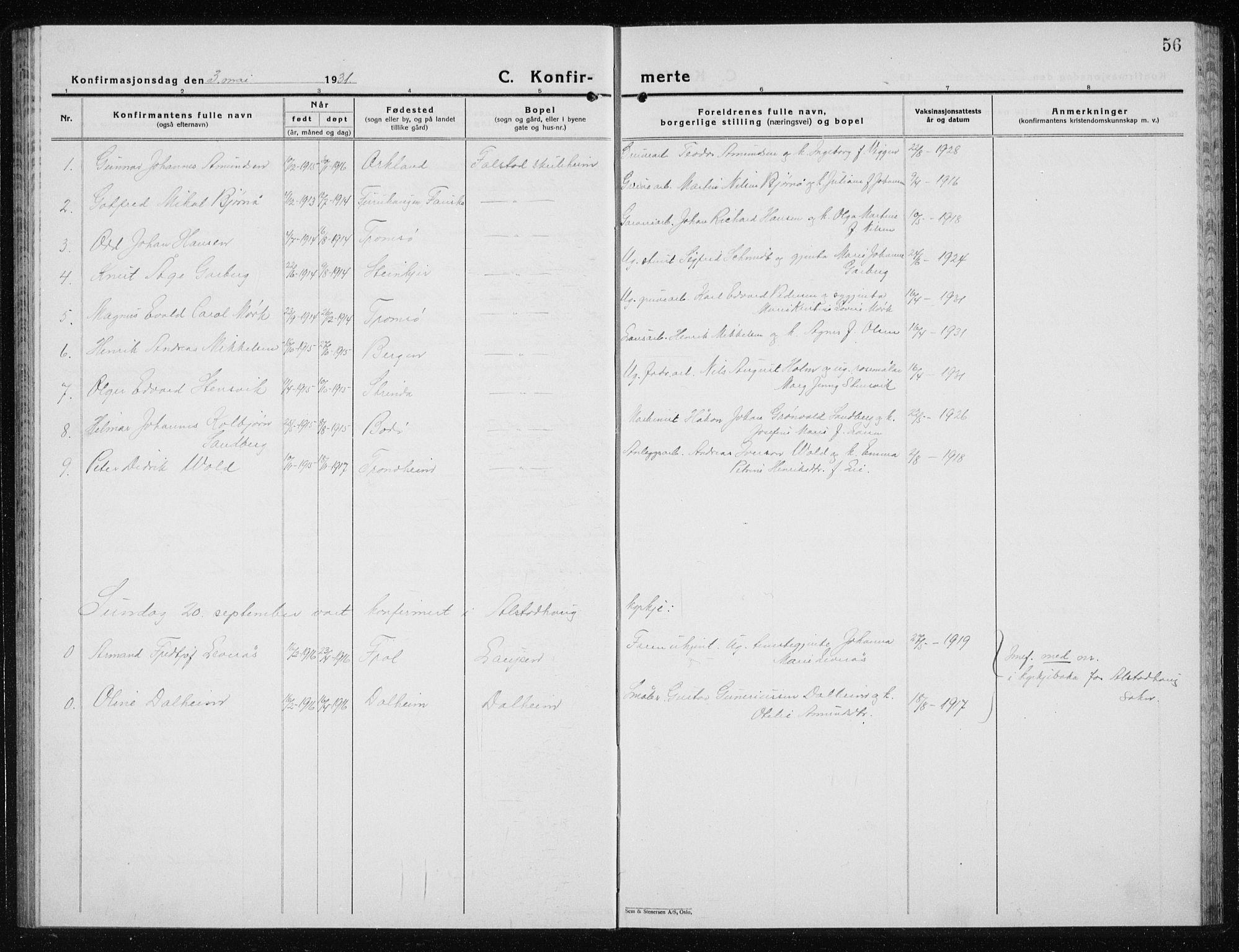 SAT, Ministerialprotokoller, klokkerbøker og fødselsregistre - Nord-Trøndelag, 719/L0180: Klokkerbok nr. 719C01, 1878-1940, s. 56