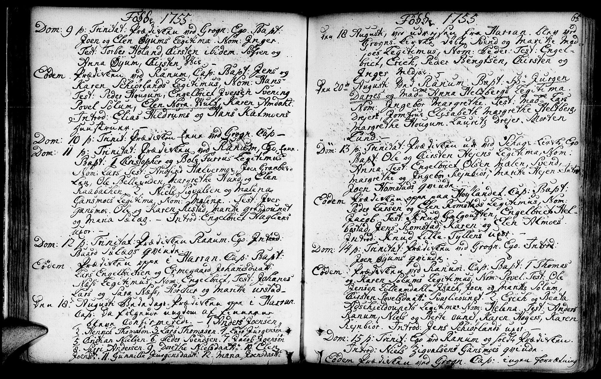 SAT, Ministerialprotokoller, klokkerbøker og fødselsregistre - Nord-Trøndelag, 764/L0542: Ministerialbok nr. 764A02, 1748-1779, s. 65