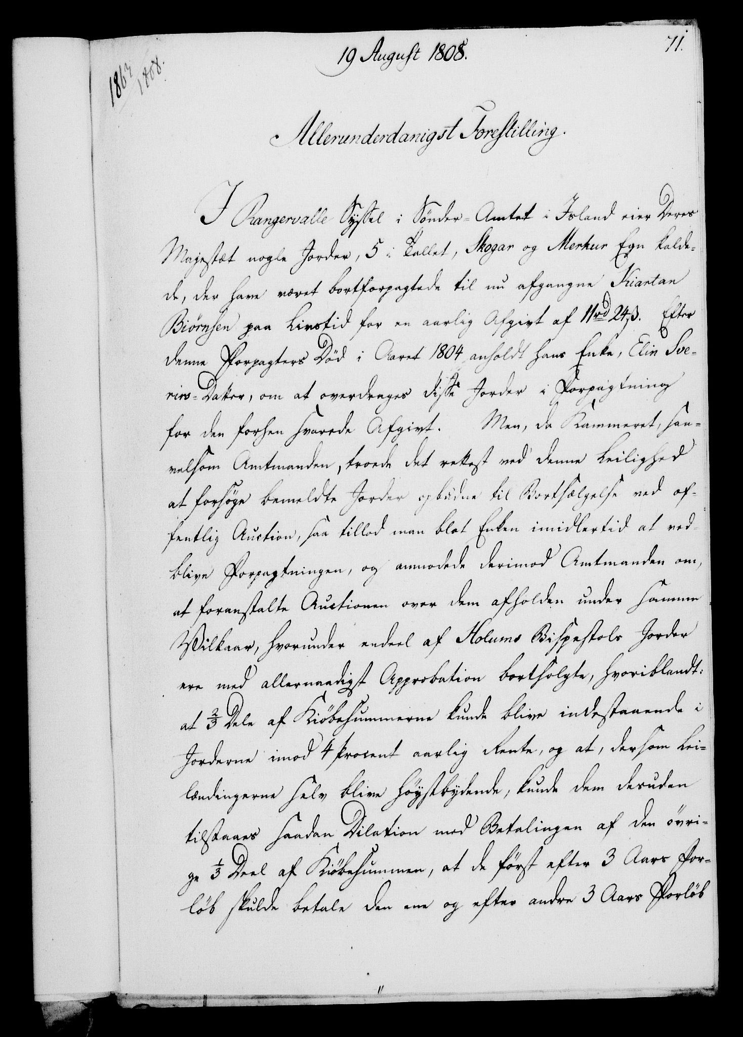 RA, Rentekammeret, Kammerkanselliet, G/Gf/Gfa/L0090: Norsk relasjons- og resolusjonsprotokoll (merket RK 52.90), 1808, s. 354
