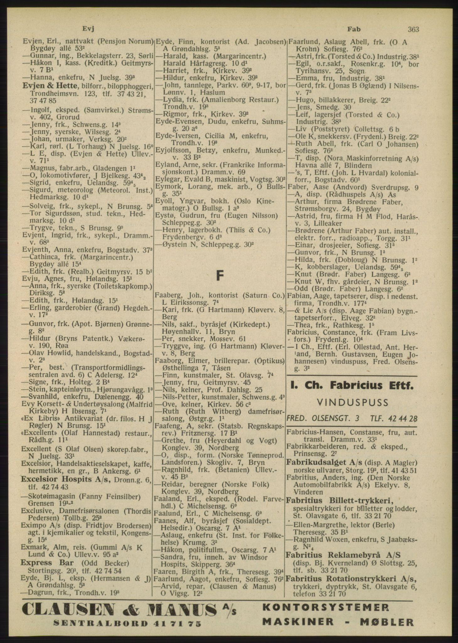 PUBL, Kristiania/Oslo adressebok, 1948, s. 363
