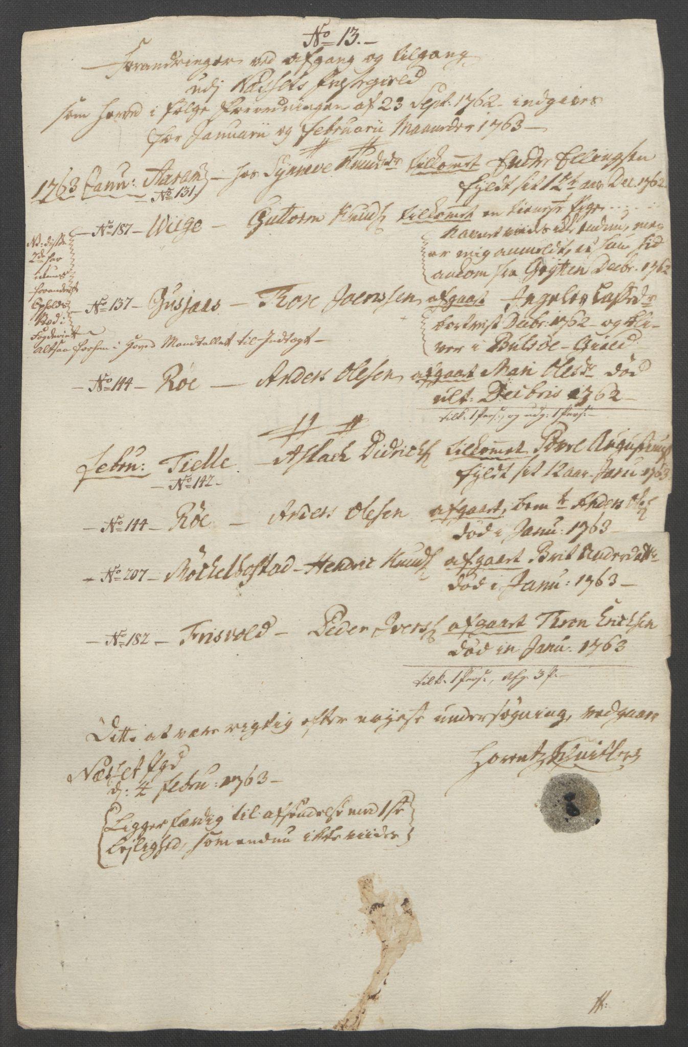 RA, Rentekammeret inntil 1814, Reviderte regnskaper, Fogderegnskap, R55/L3730: Ekstraskatten Romsdal, 1762-1763, s. 388