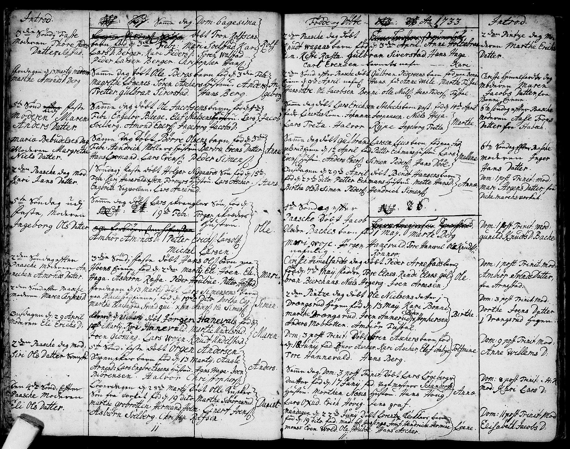 SAO, Asker prestekontor Kirkebøker, F/Fa/L0001: Ministerialbok nr. I 1, 1726-1744, s. 9