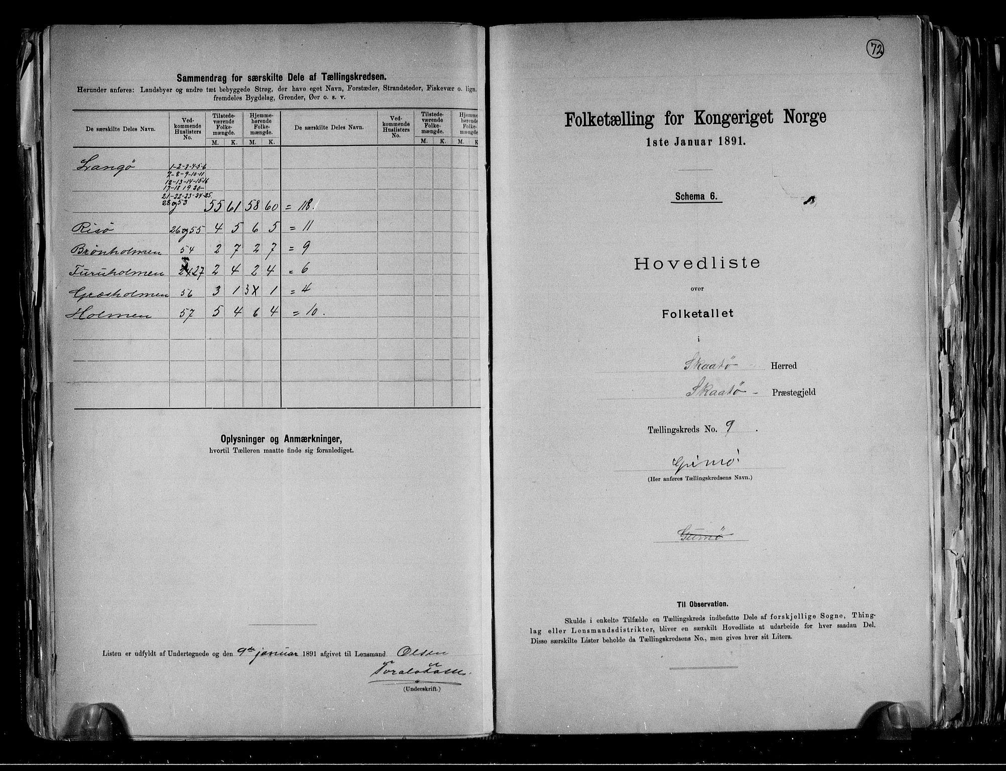 RA, Folketelling 1891 for 0815 Skåtøy herred, 1891, s. 26