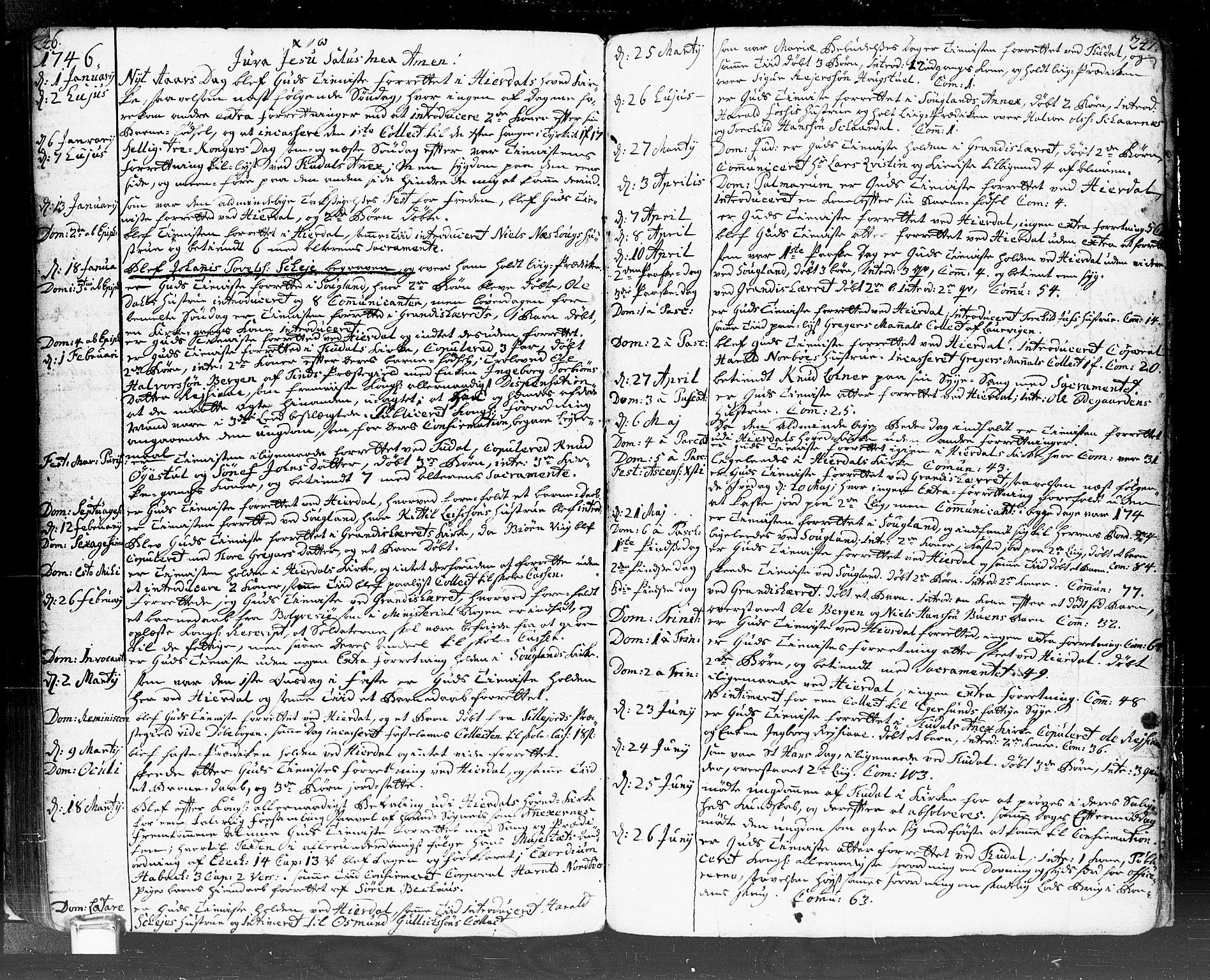 SAKO, Hjartdal kirkebøker, F/Fa/L0002: Ministerialbok nr. I 2, 1716-1754, s. 246-247