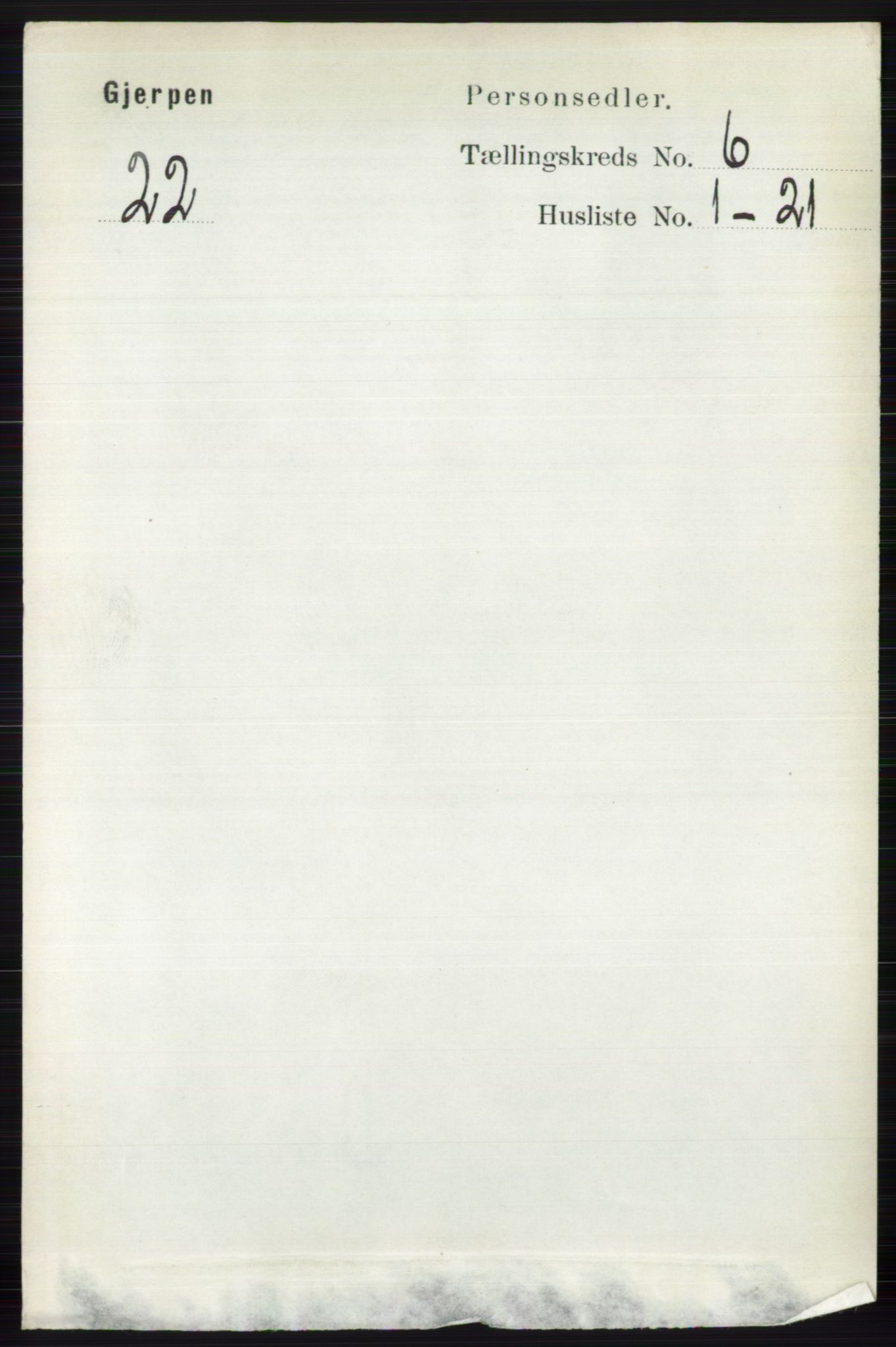 RA, Folketelling 1891 for 0812 Gjerpen herred, 1891, s. 2961