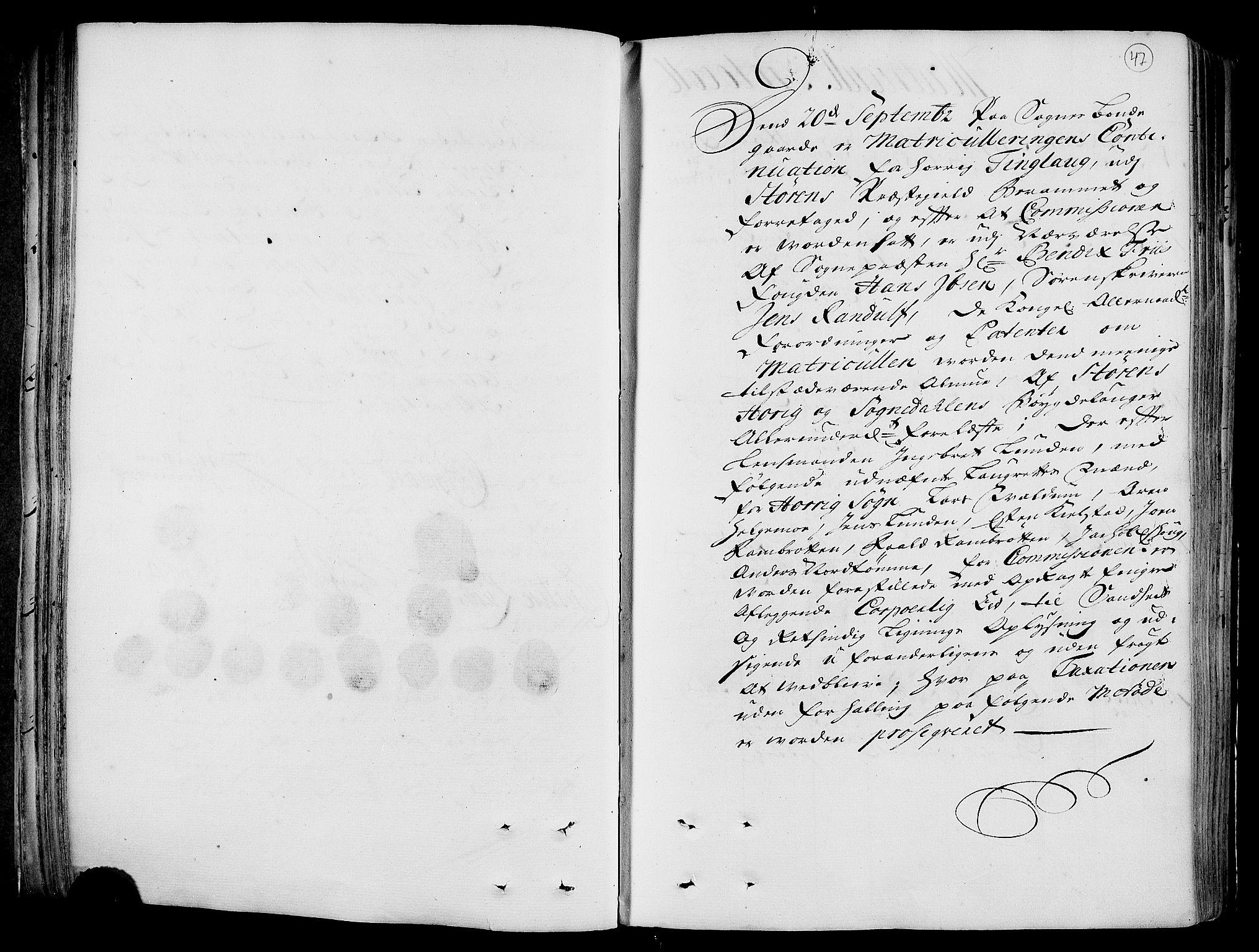 RA, Rentekammeret inntil 1814, Realistisk ordnet avdeling, N/Nb/Nbf/L0158: Gauldal eksaminasjonsprotokoll, 1723, s. 46b-47a