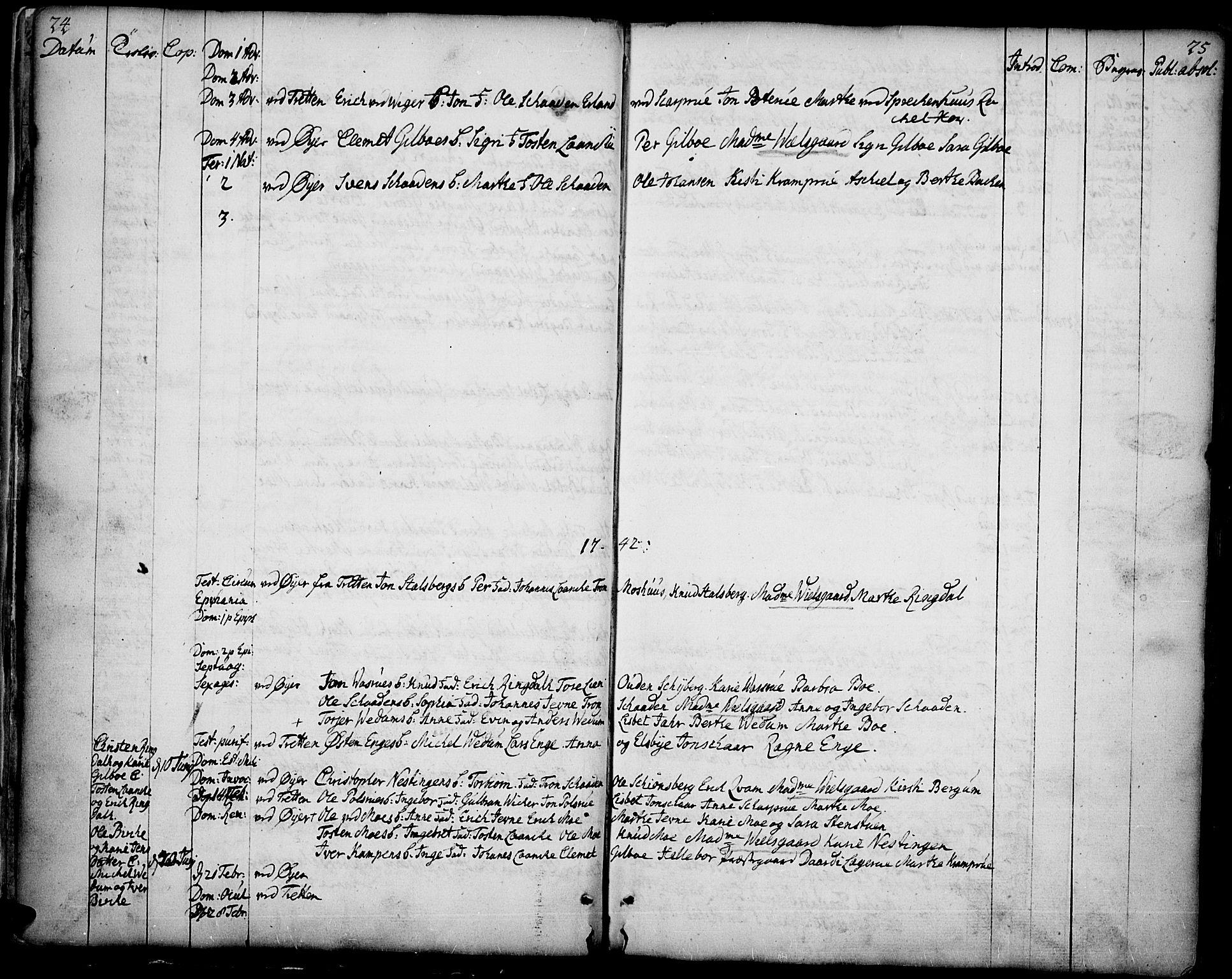SAH, Øyer prestekontor, Ministerialbok nr. 2, 1733-1784, s. 24-25