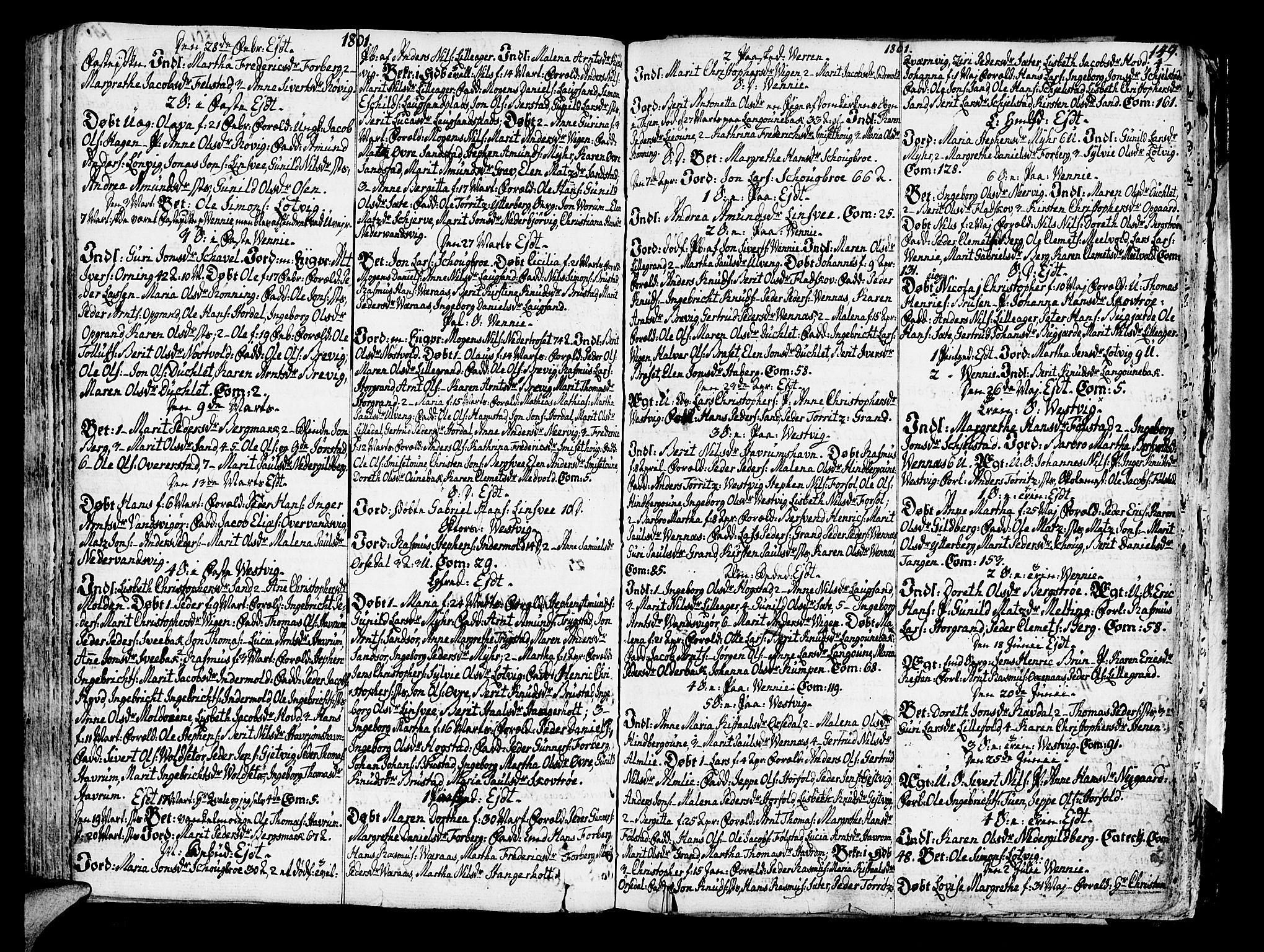 SAT, Ministerialprotokoller, klokkerbøker og fødselsregistre - Nord-Trøndelag, 722/L0216: Ministerialbok nr. 722A03, 1756-1816, s. 149