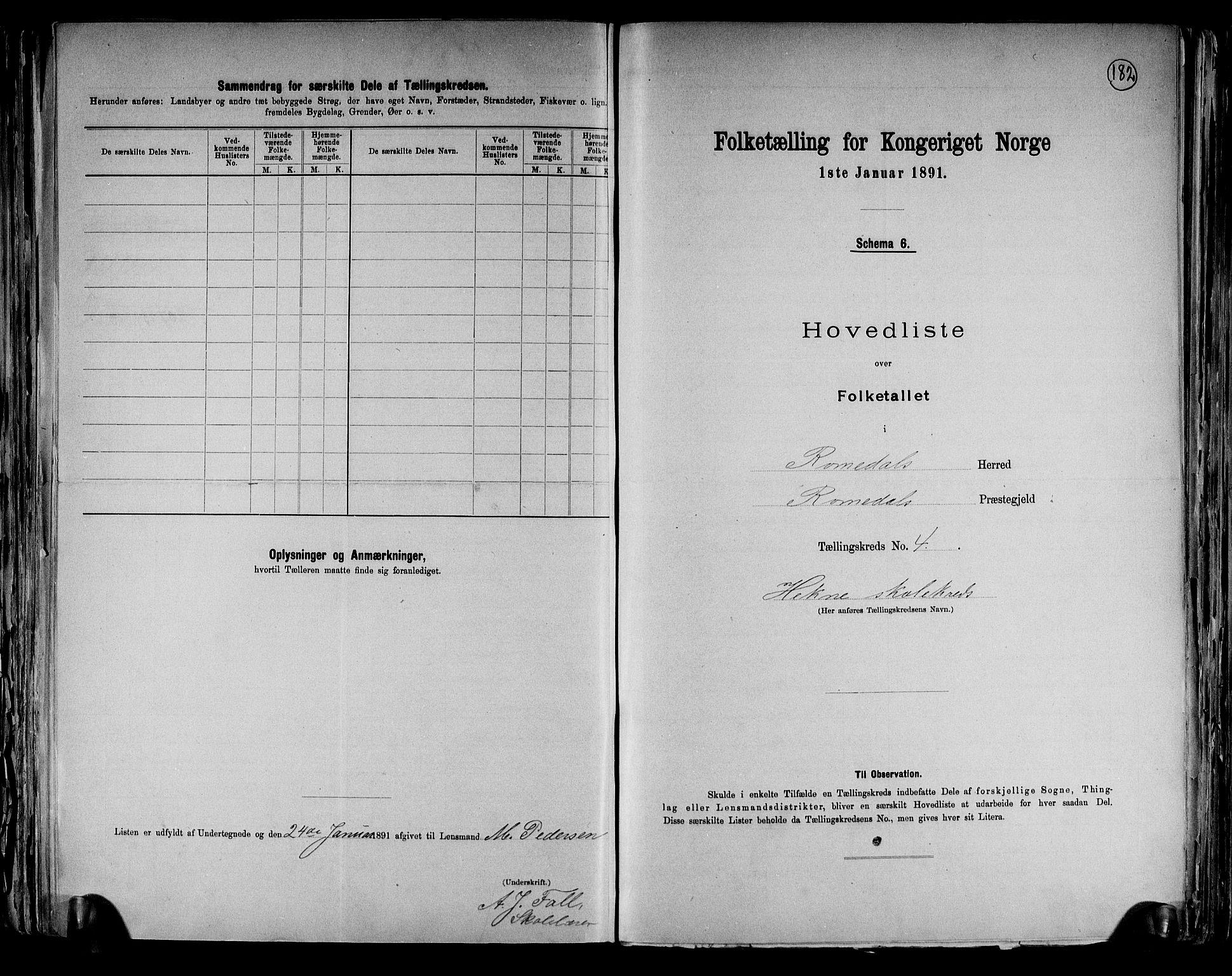 RA, Folketelling 1891 for 0416 Romedal herred, 1891, s. 11