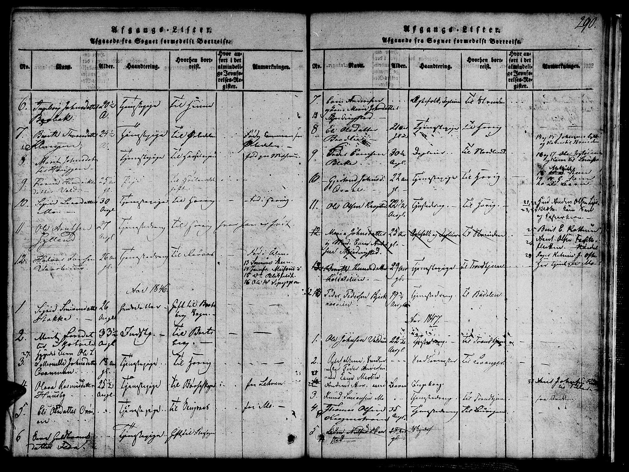 SAT, Ministerialprotokoller, klokkerbøker og fødselsregistre - Sør-Trøndelag, 691/L1092: Klokkerbok nr. 691C03, 1816-1852, s. 290