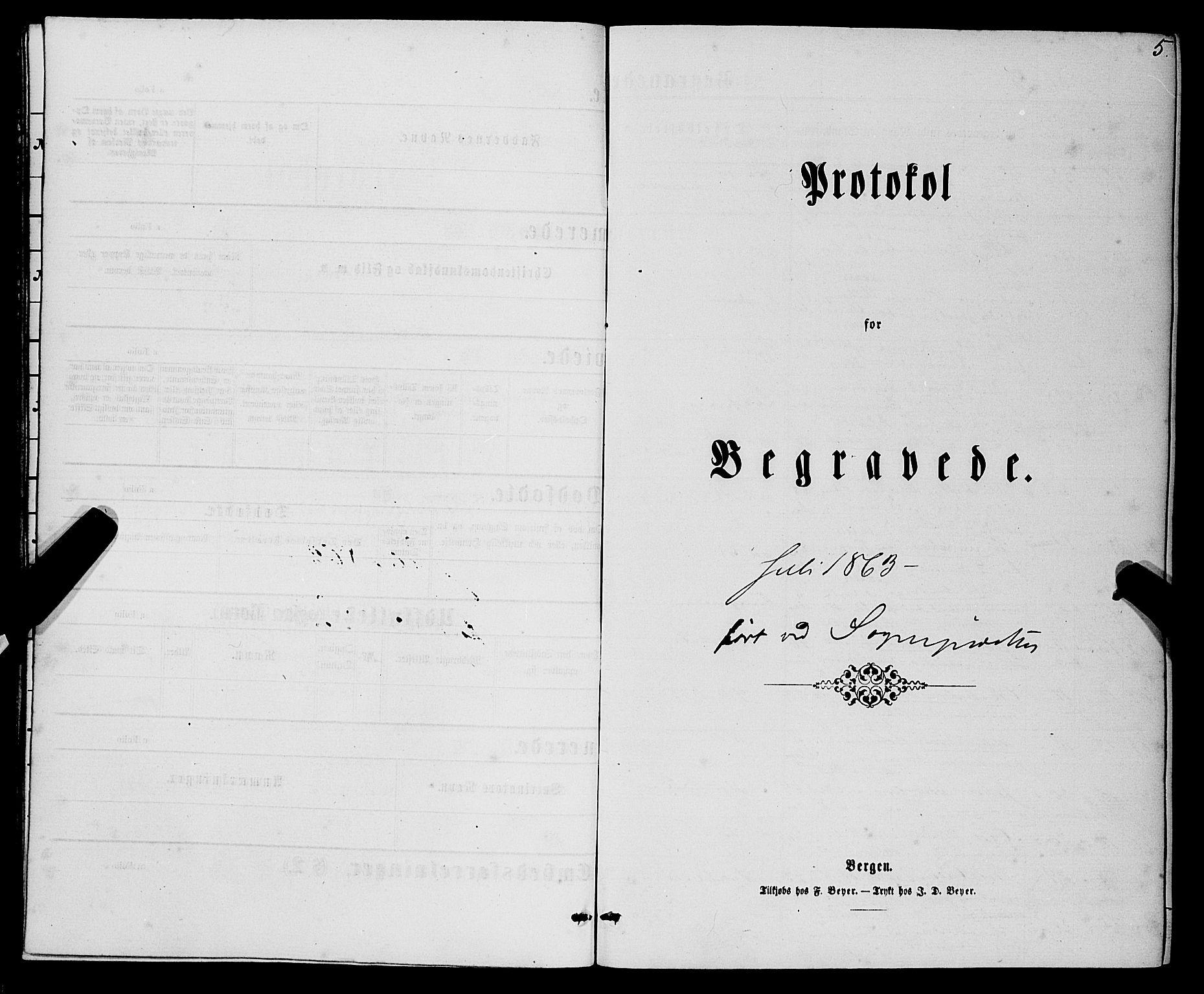 SAB, Domkirken sokneprestembete, H/Haa/L0042: Ministerialbok nr. E 3, 1863-1876, s. 5