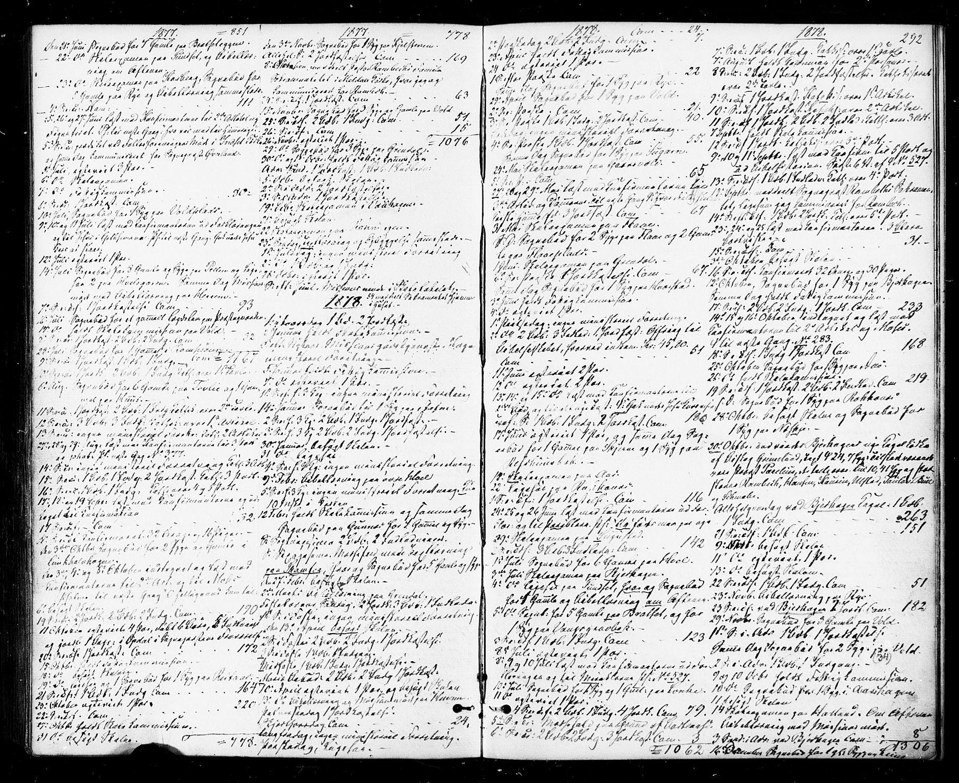 SAT, Ministerialprotokoller, klokkerbøker og fødselsregistre - Sør-Trøndelag, 674/L0870: Ministerialbok nr. 674A02, 1861-1879, s. 292